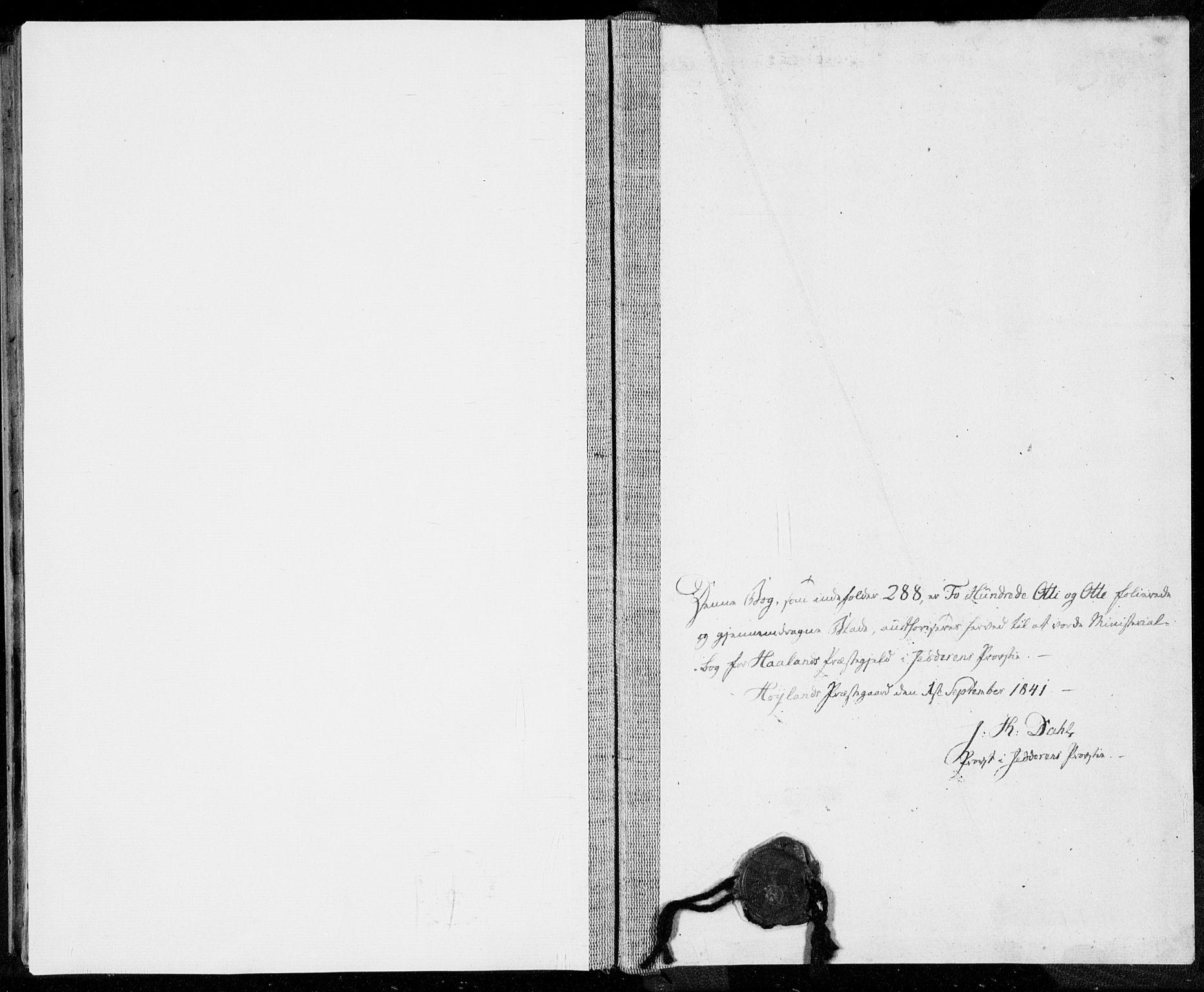 SAST, Håland sokneprestkontor, 30BA/L0006: Ministerialbok nr. A 6, 1842-1853