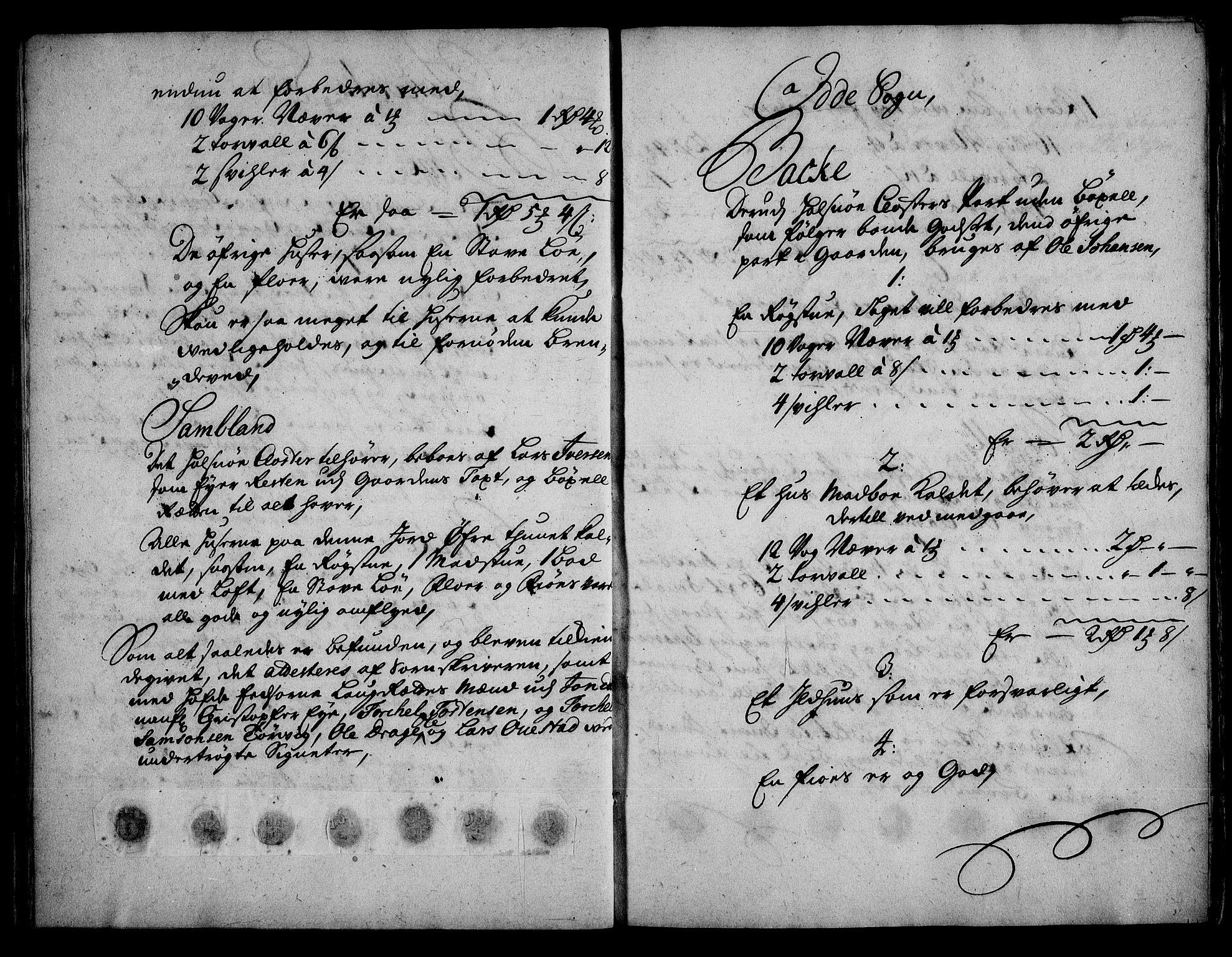 RA, Rentekammeret inntil 1814, Realistisk ordnet avdeling, On/L0003: [Jj 4]: Kommisjonsforretning over Vilhelm Hanssøns forpaktning av Halsnøy klosters gods, 1721-1729, s. 95