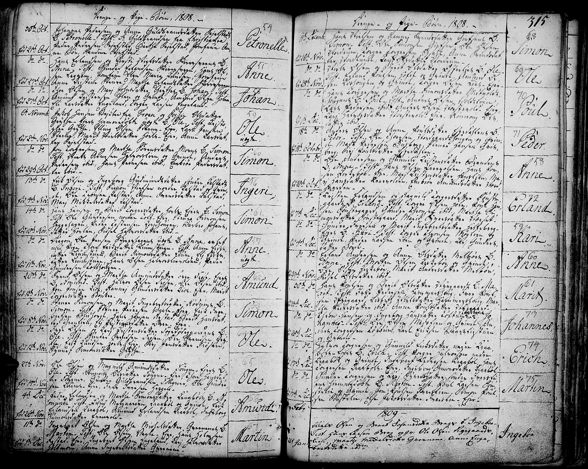 SAH, Gausdal prestekontor, Ministerialbok nr. 3, 1758-1809, s. 315