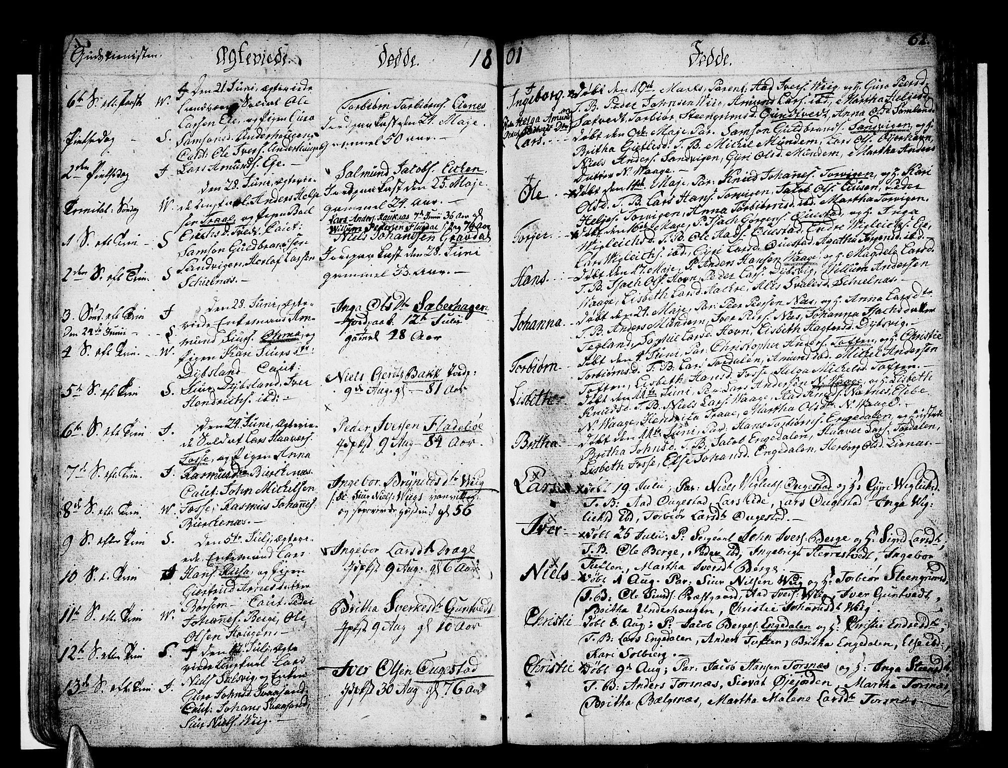 SAB, Strandebarm sokneprestembete, H/Haa: Ministerialbok nr. A 4, 1788-1817, s. 62