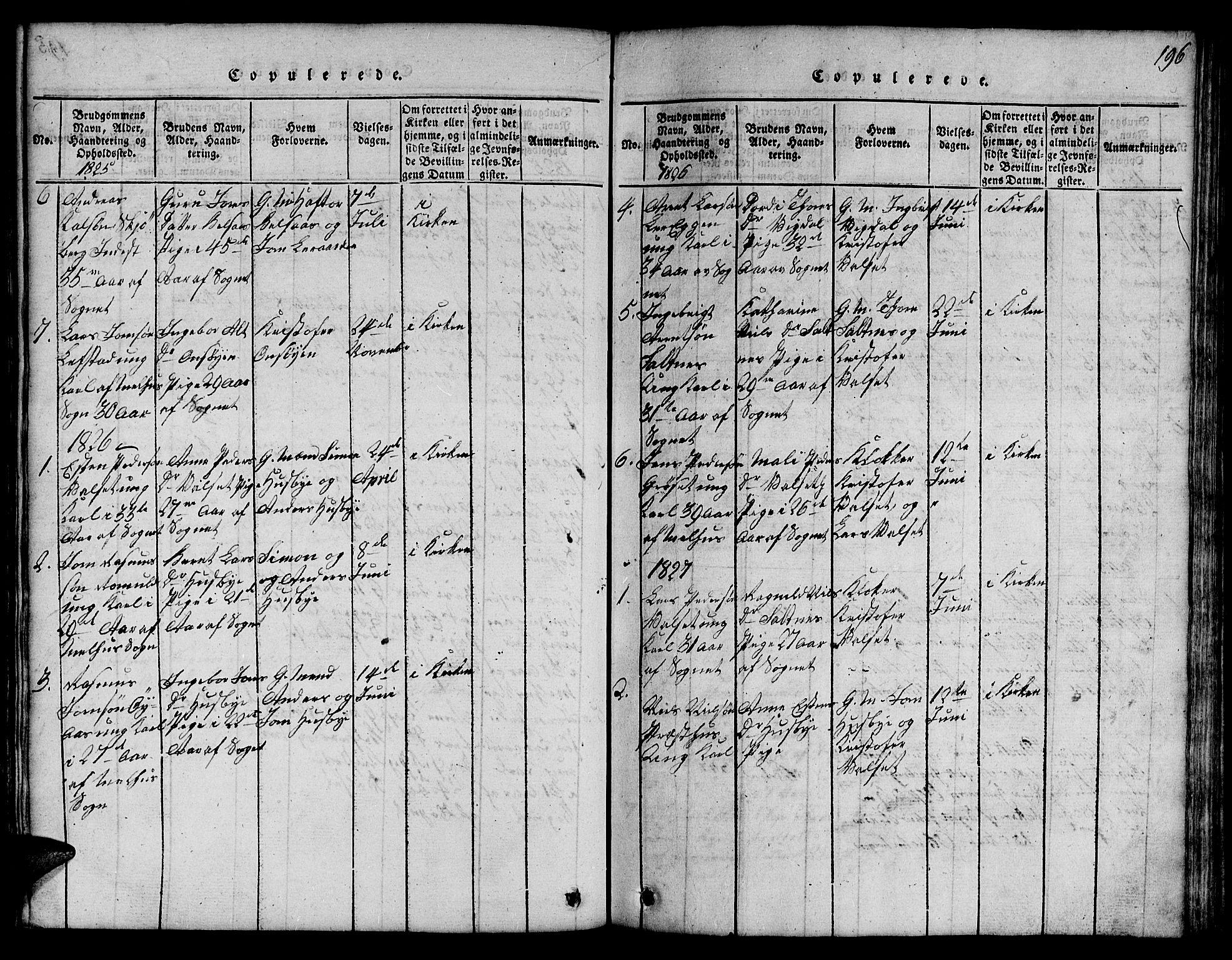 SAT, Ministerialprotokoller, klokkerbøker og fødselsregistre - Sør-Trøndelag, 666/L0788: Klokkerbok nr. 666C01, 1816-1847, s. 196