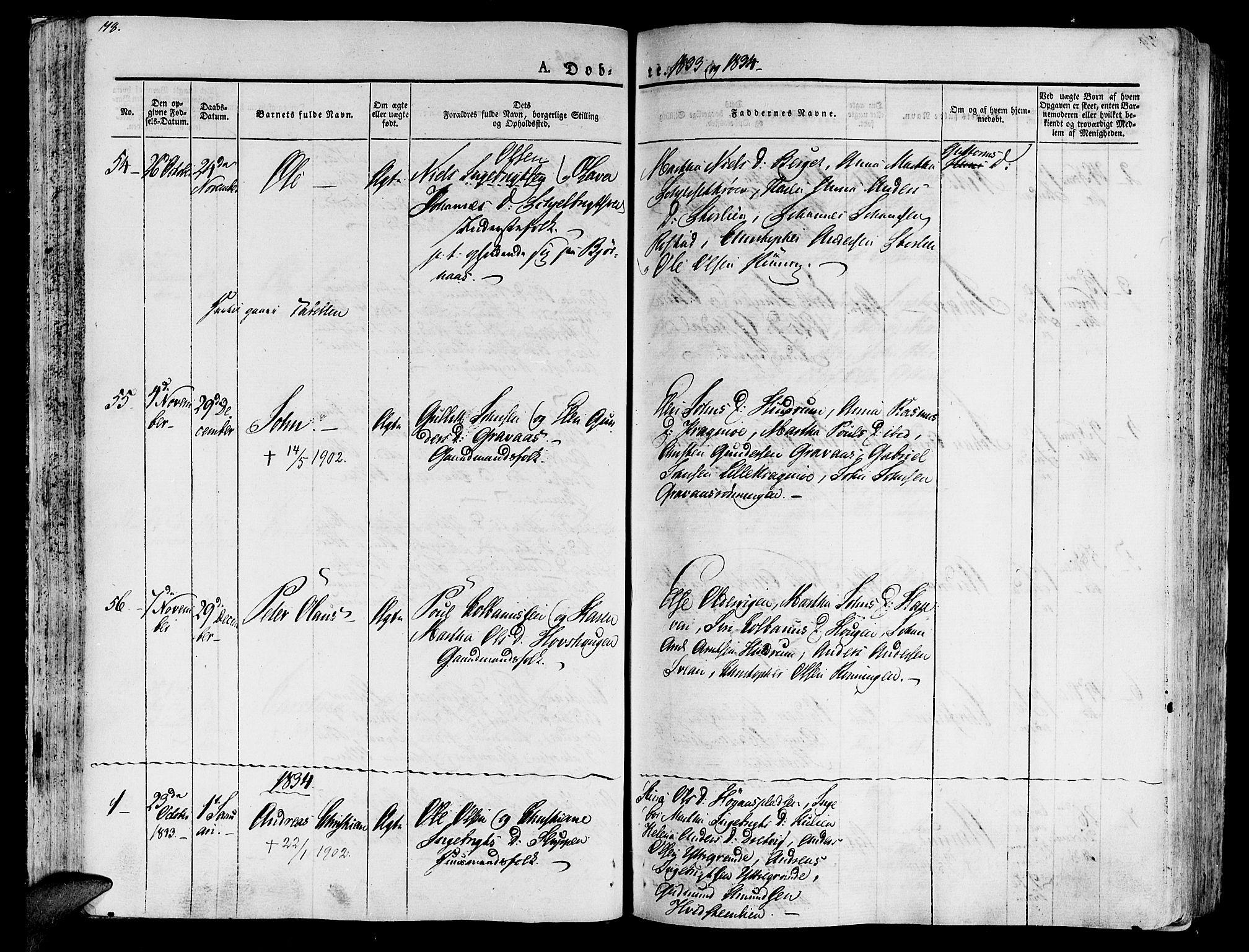 SAT, Ministerialprotokoller, klokkerbøker og fødselsregistre - Nord-Trøndelag, 701/L0006: Ministerialbok nr. 701A06, 1825-1841, s. 78