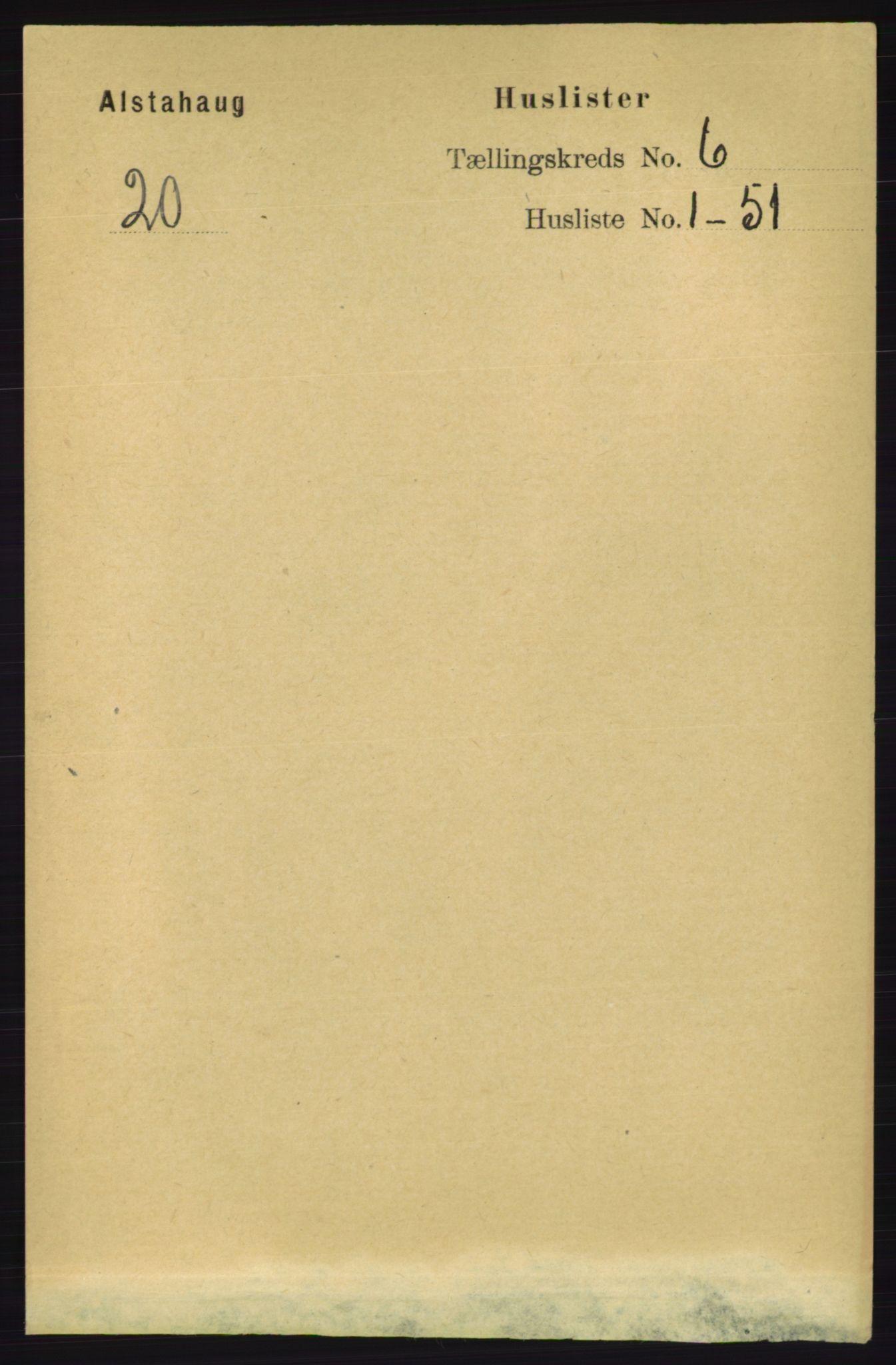 RA, Folketelling 1891 for 1820 Alstahaug herred, 1891, s. 2044