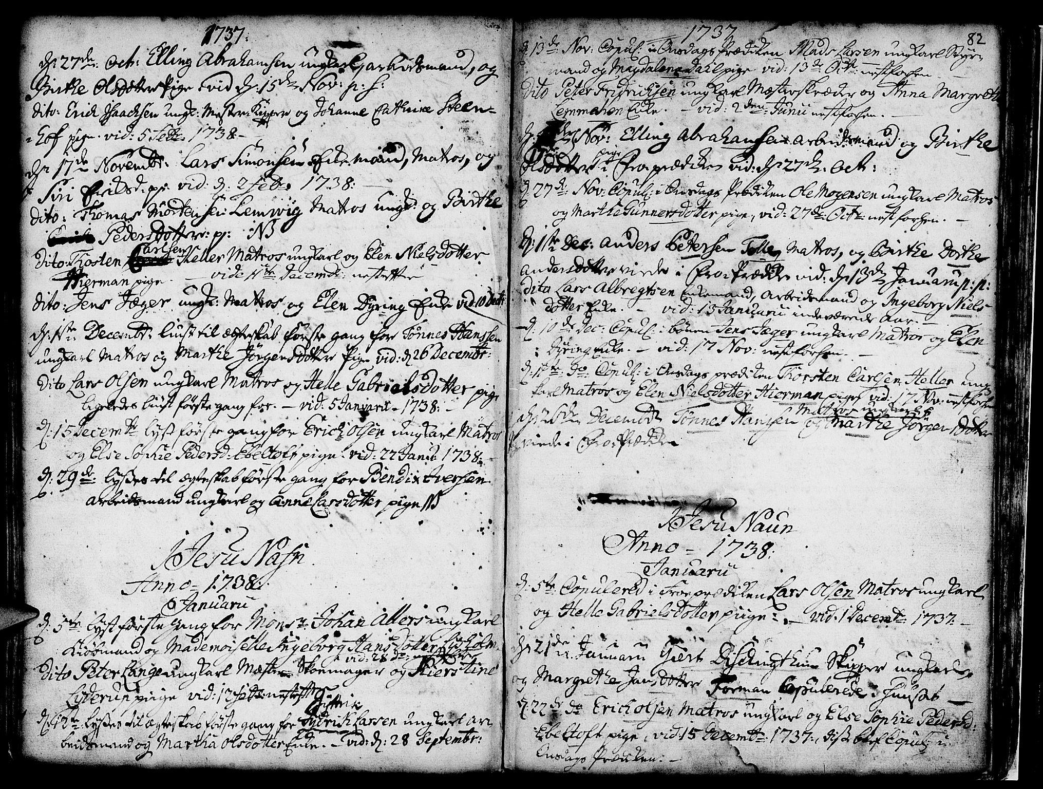 SAB, Nykirken Sokneprestembete, H/Haa: Ministerialbok nr. A 7, 1719-1781, s. 82