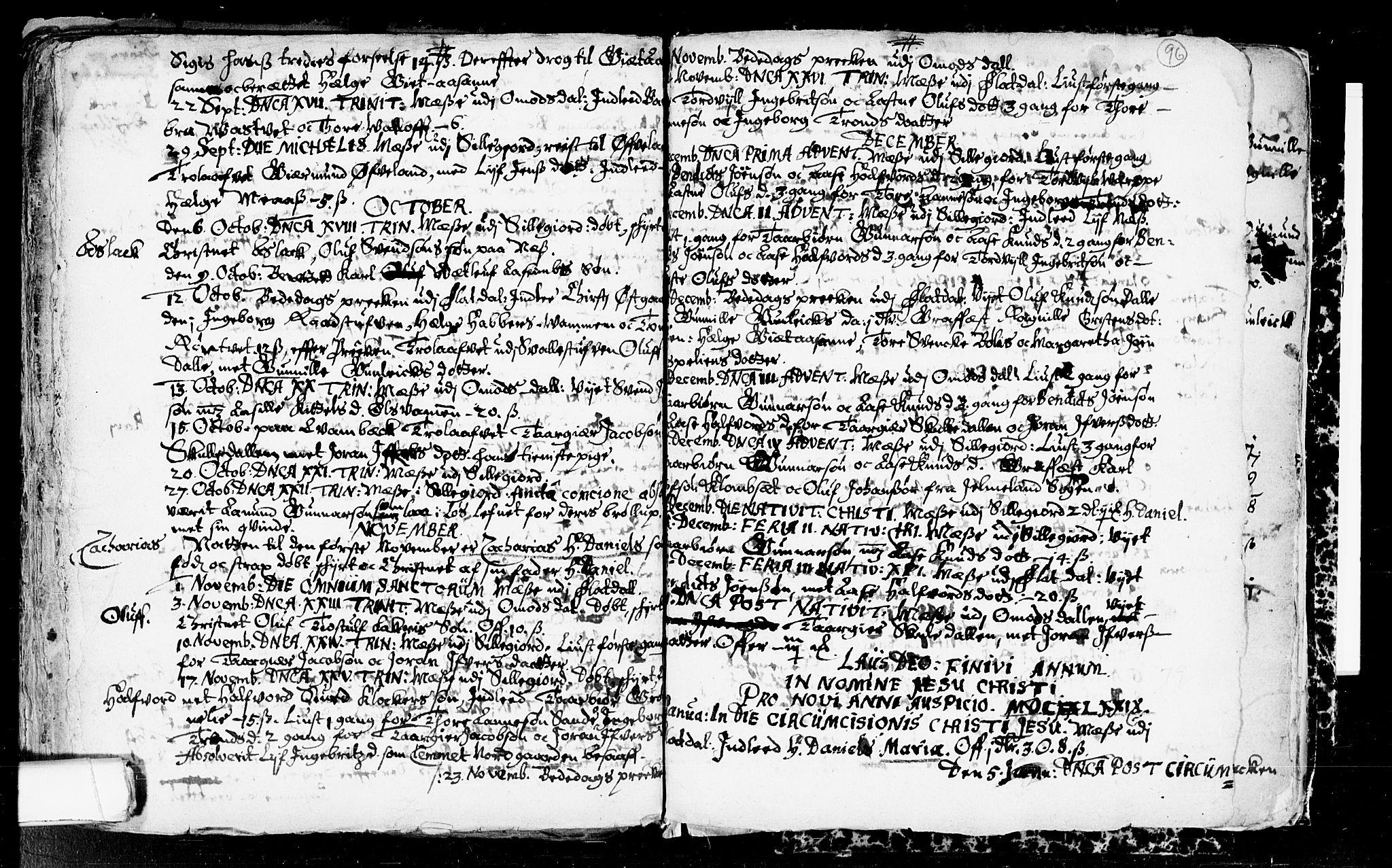 SAKO, Seljord kirkebøker, F/Fa/L0001: Ministerialbok nr. I 1, 1654-1686, s. 96