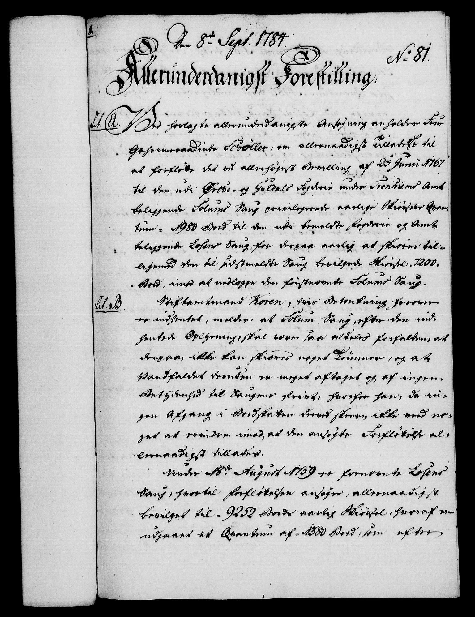RA, Rentekammeret, Kammerkanselliet, G/Gf/Gfa/L0066: Norsk relasjons- og resolusjonsprotokoll (merket RK 52.66), 1784, s. 564