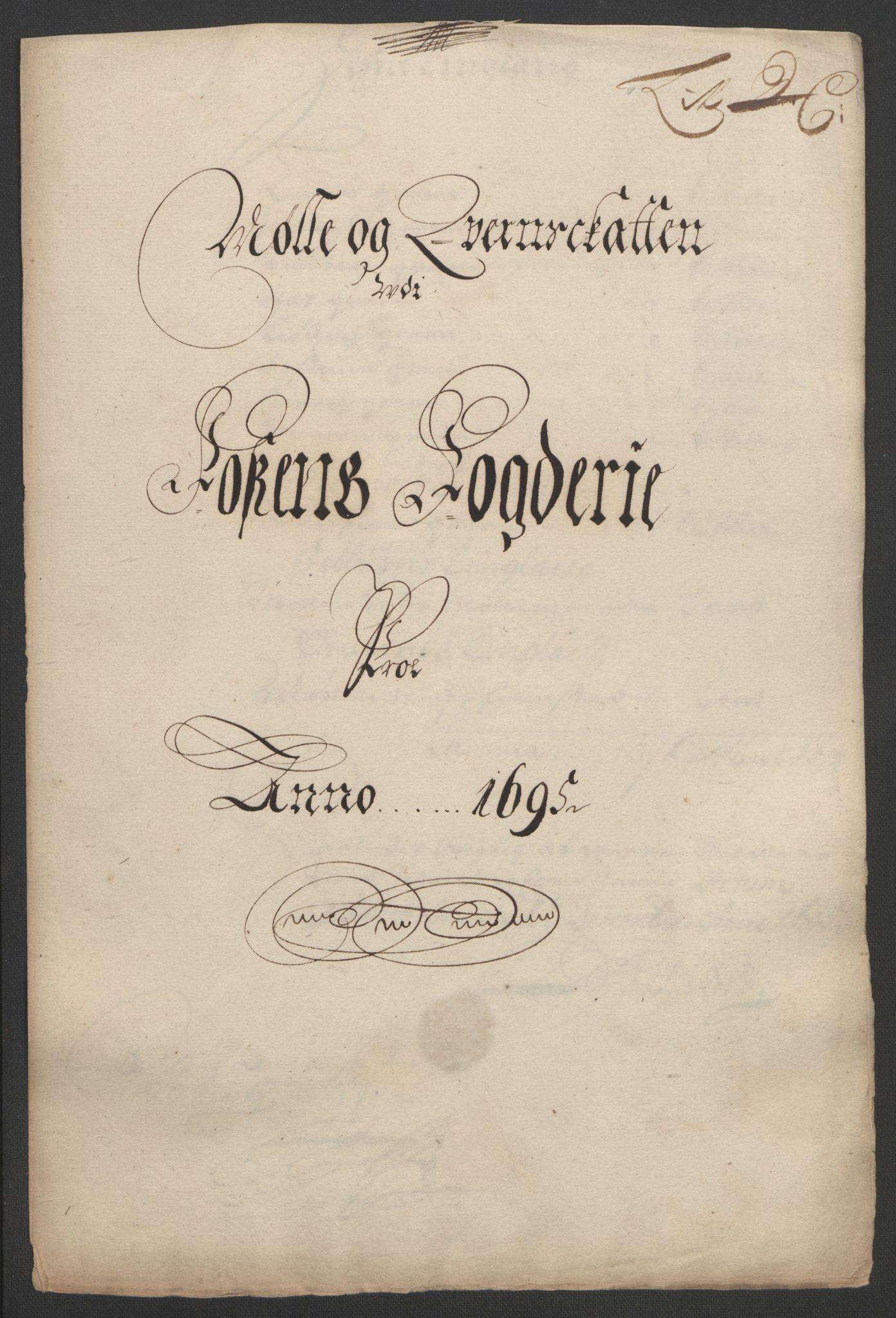 RA, Rentekammeret inntil 1814, Reviderte regnskaper, Fogderegnskap, R57/L3851: Fogderegnskap Fosen, 1695-1696, s. 78
