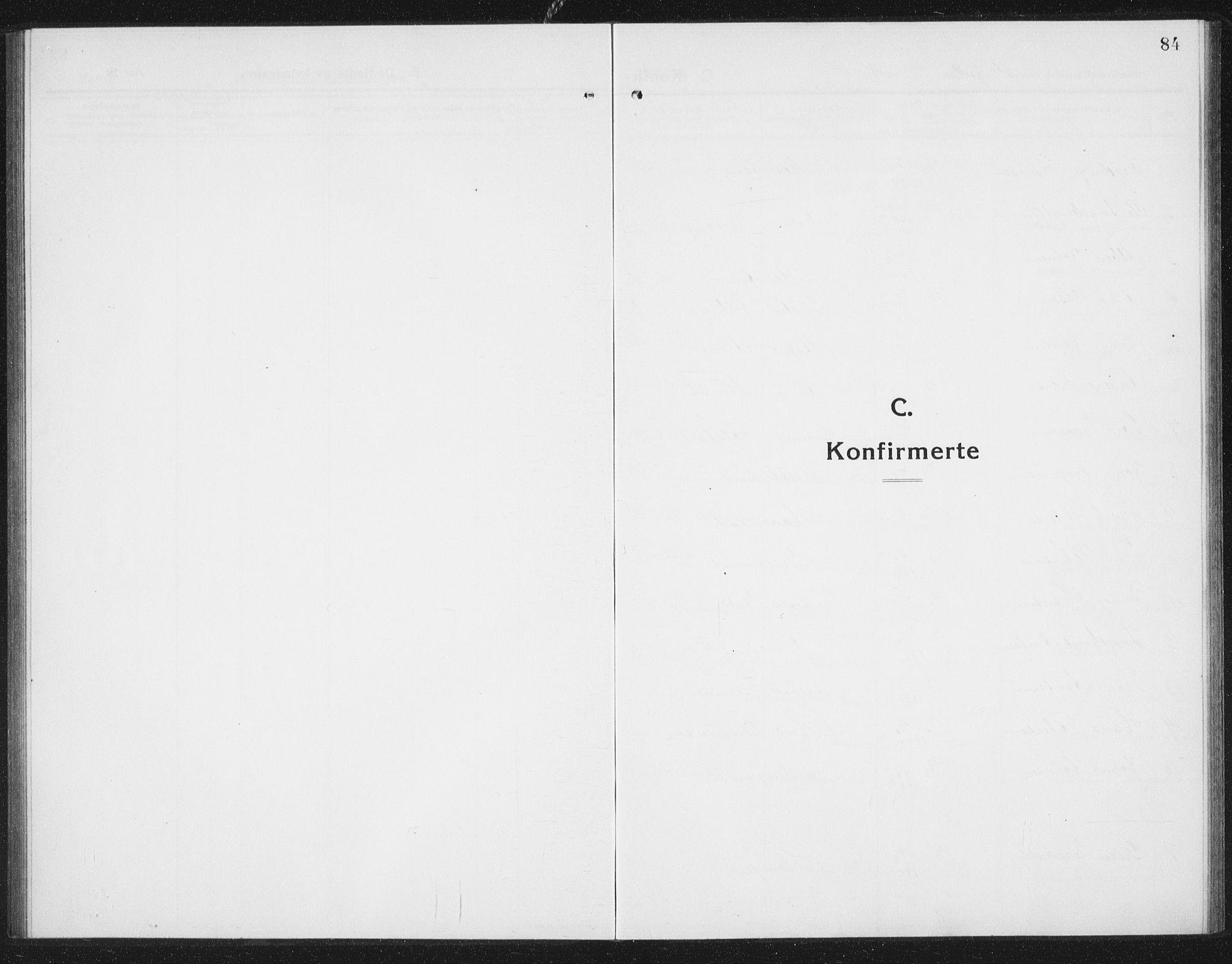 SAT, Ministerialprotokoller, klokkerbøker og fødselsregistre - Sør-Trøndelag, 675/L0888: Klokkerbok nr. 675C01, 1913-1935, s. 84