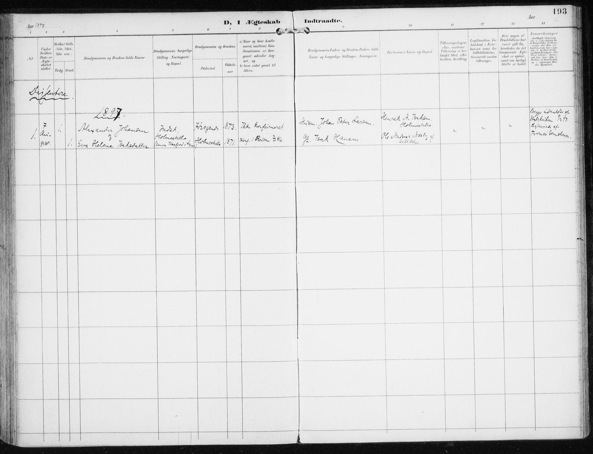 SATØ, Skjervøy sokneprestkontor, H/Ha/Haa/L0017kirke: Ministerialbok nr. 17, 1895-1911, s. 193