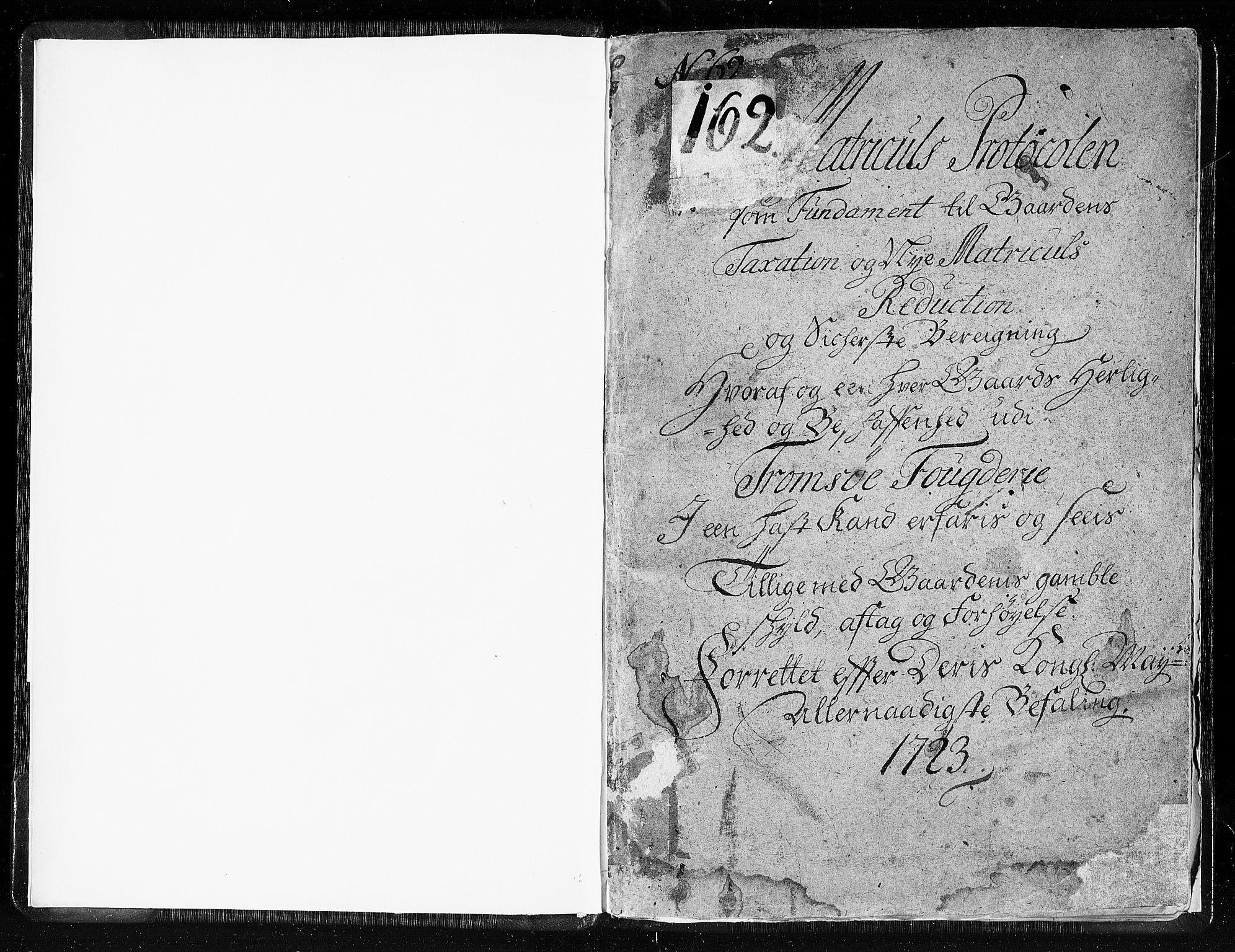 RA, Rentekammeret inntil 1814, Realistisk ordnet avdeling, N/Nb/Nbf/L0180: Troms eksaminasjonsprotokoll, 1723, s. 1a