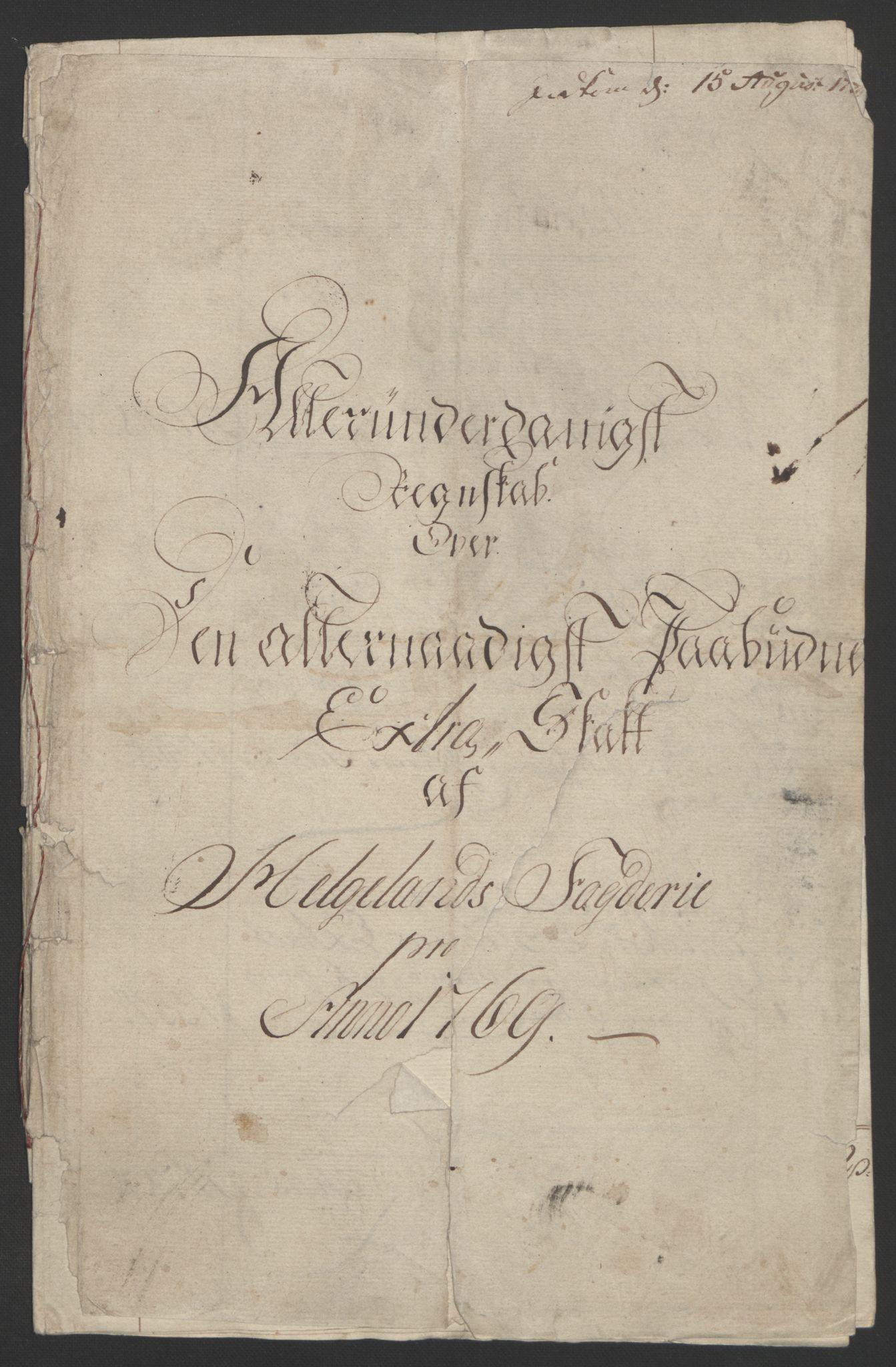 RA, Rentekammeret inntil 1814, Reviderte regnskaper, Fogderegnskap, R65/L4573: Ekstraskatten Helgeland, 1762-1772, s. 216