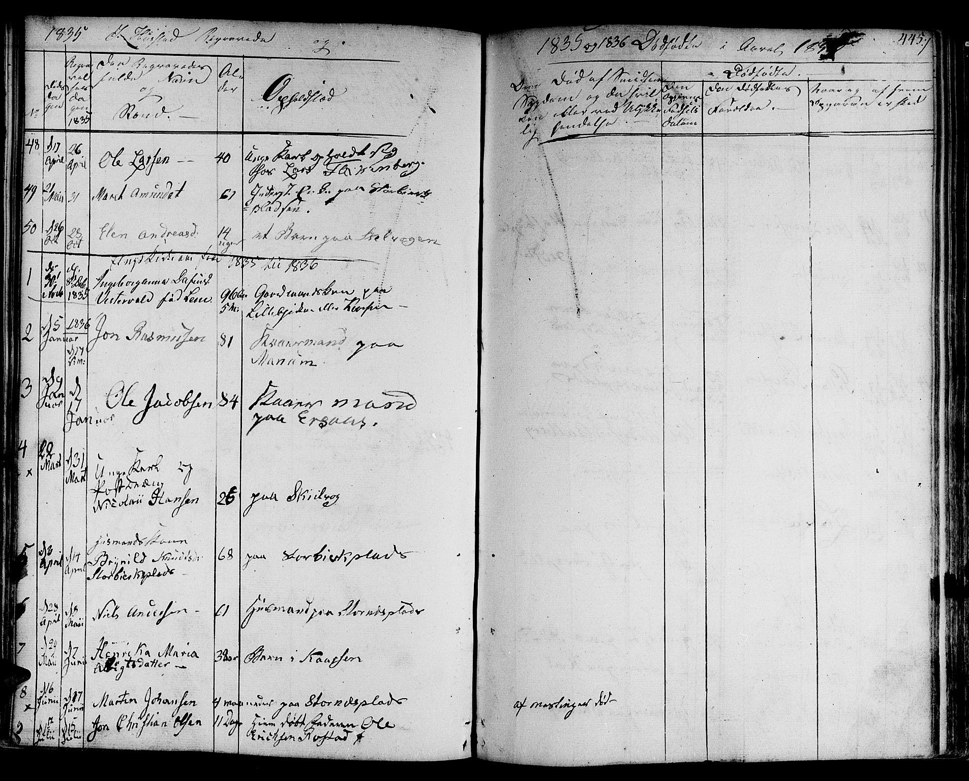 SAT, Ministerialprotokoller, klokkerbøker og fødselsregistre - Nord-Trøndelag, 730/L0277: Ministerialbok nr. 730A06 /3, 1830-1839, s. 445