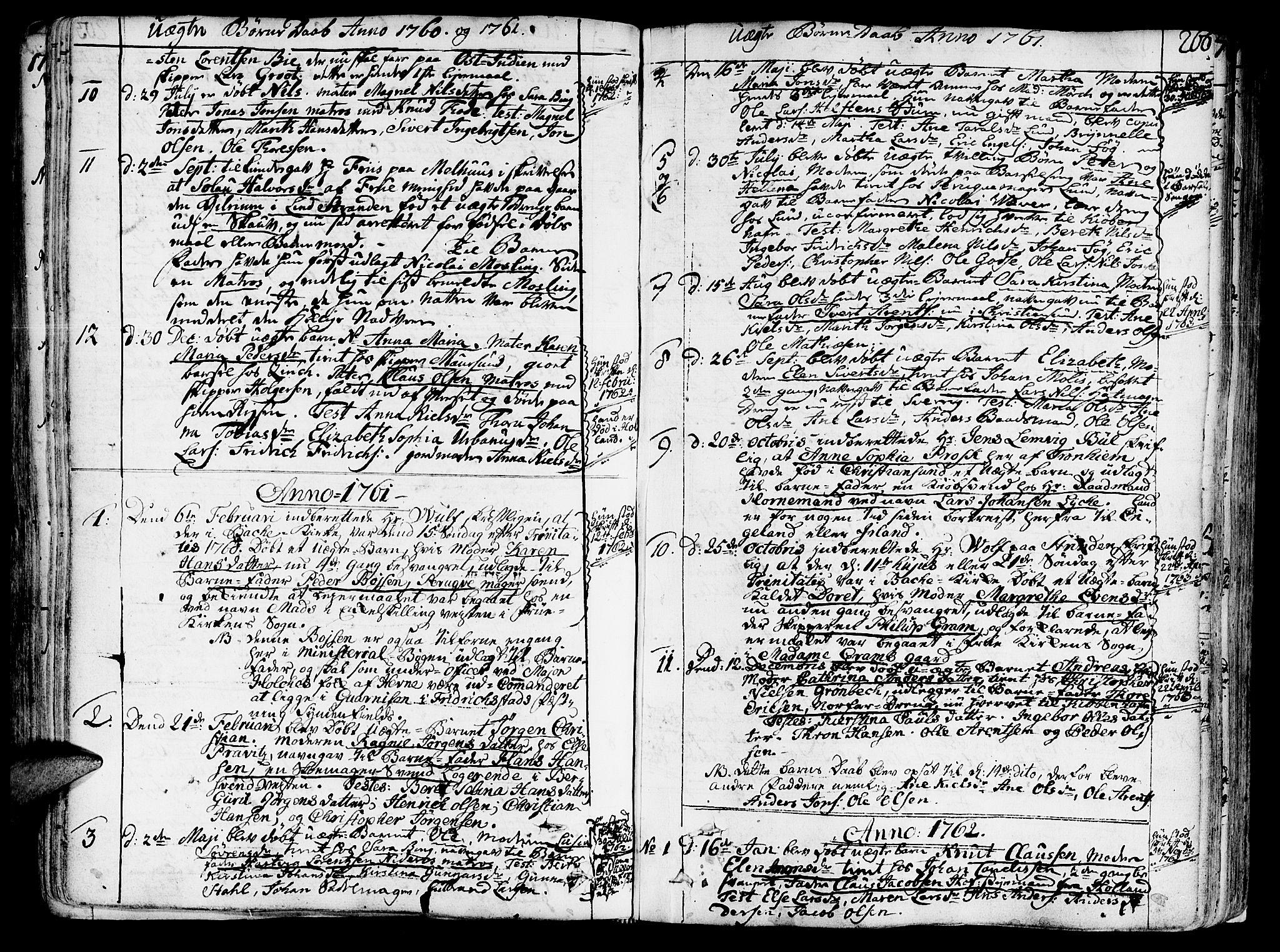 SAT, Ministerialprotokoller, klokkerbøker og fødselsregistre - Sør-Trøndelag, 602/L0103: Ministerialbok nr. 602A01, 1732-1774, s. 266