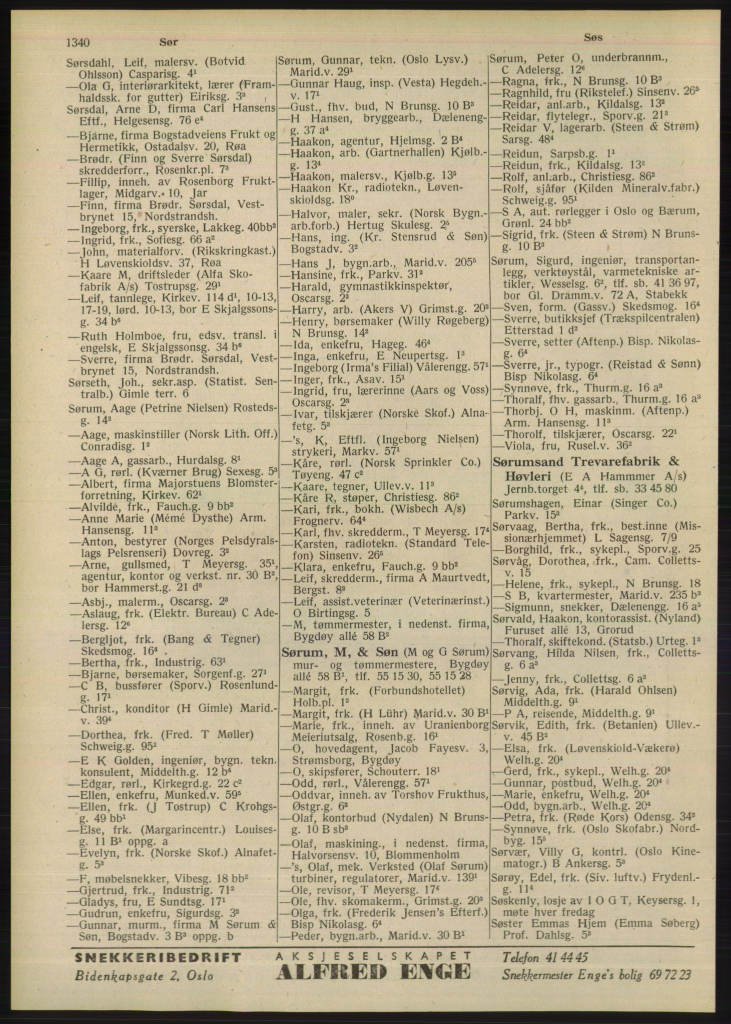 PUBL, Kristiania/Oslo adressebok, 1948, s. 1340