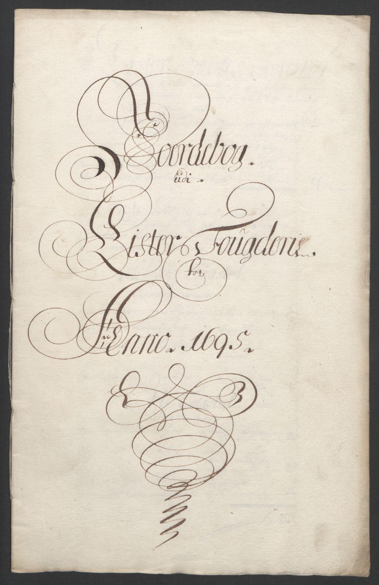 RA, Rentekammeret inntil 1814, Reviderte regnskaper, Fogderegnskap, R43/L2545: Fogderegnskap Lista og Mandal, 1694-1695, s. 215