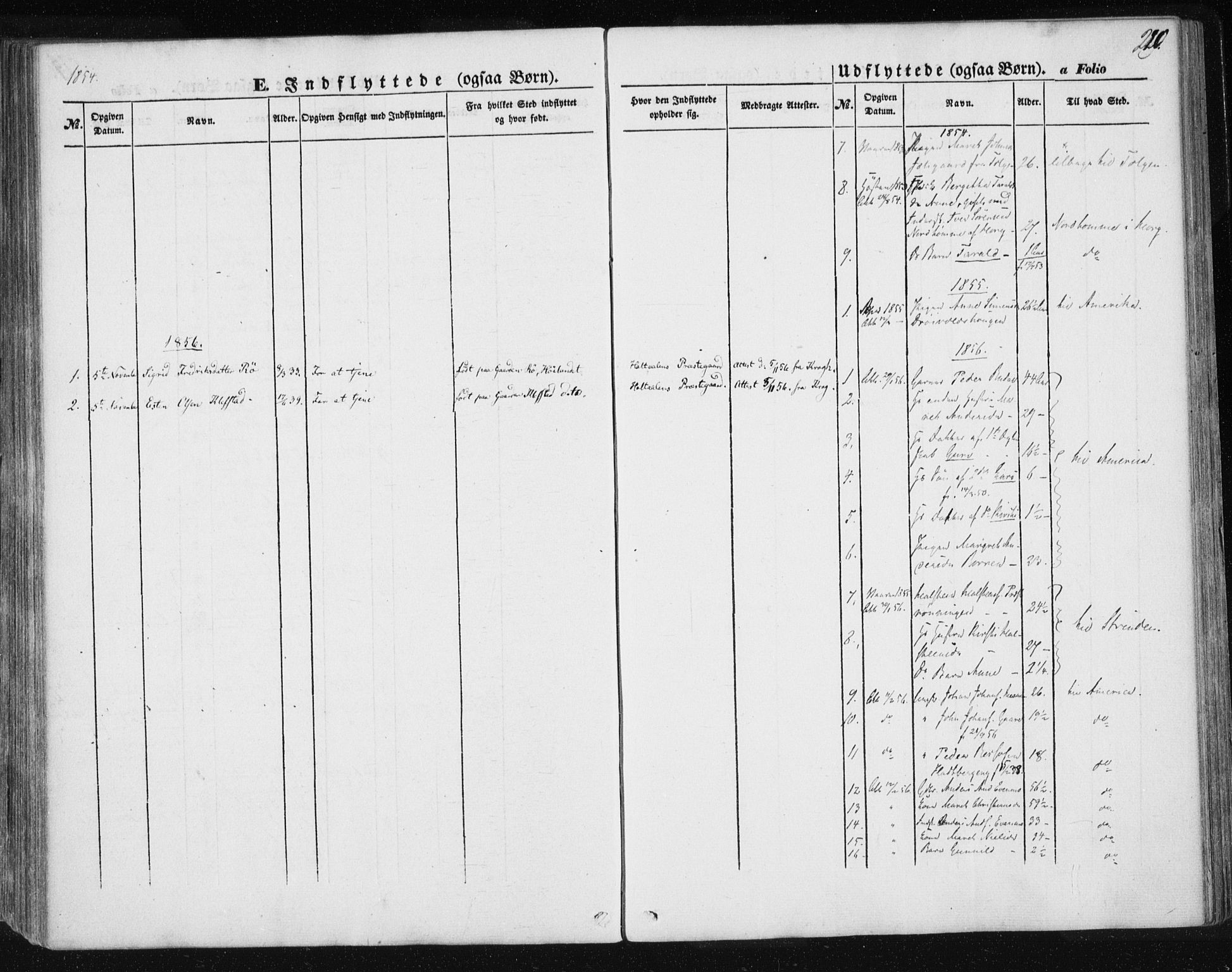 SAT, Ministerialprotokoller, klokkerbøker og fødselsregistre - Sør-Trøndelag, 685/L0963: Ministerialbok nr. 685A06 /1, 1846-1859, s. 220