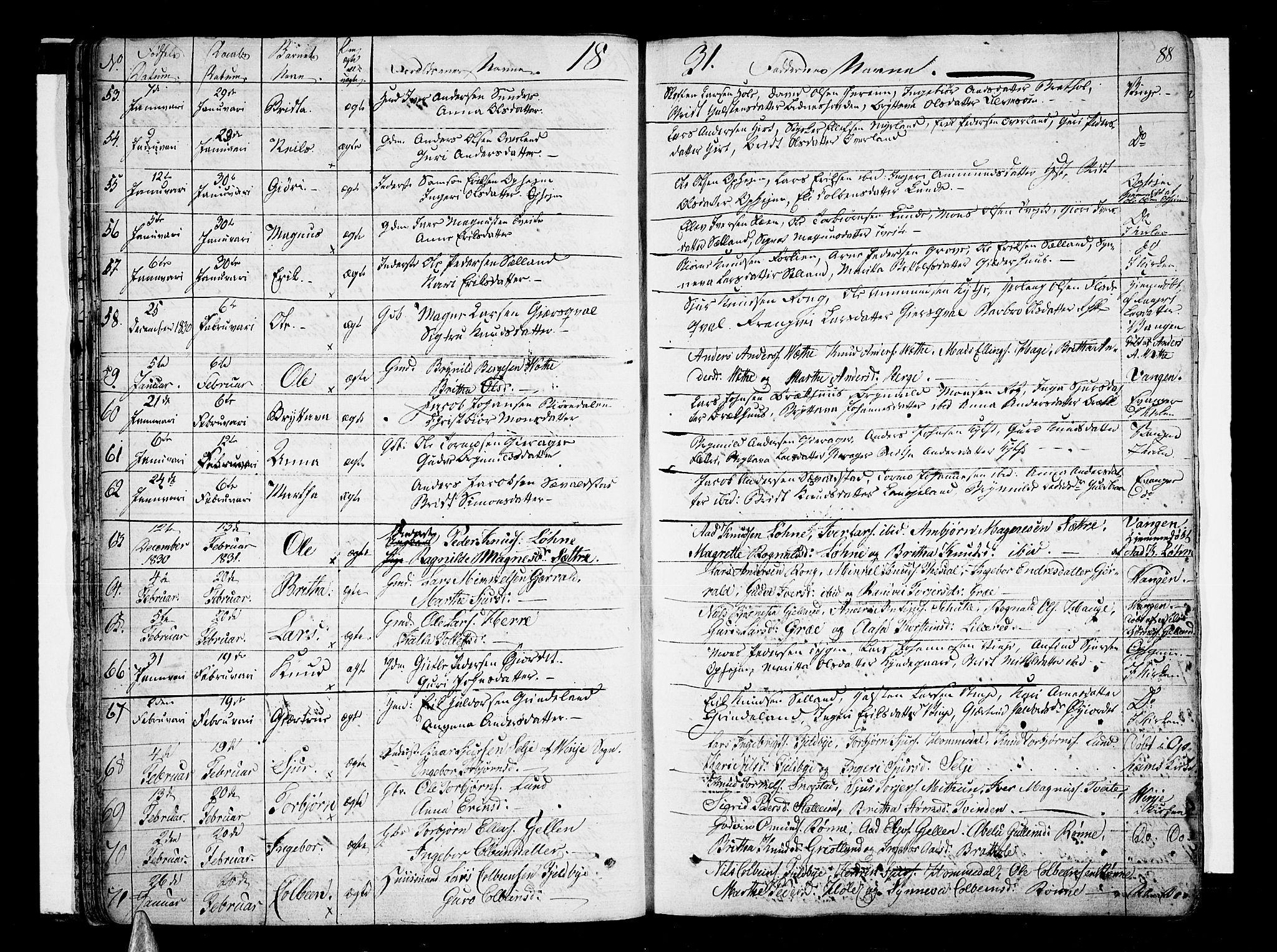 SAB, Voss Sokneprestembete, H/Haa: Ministerialbok nr. A 12, 1823-1837, s. 88