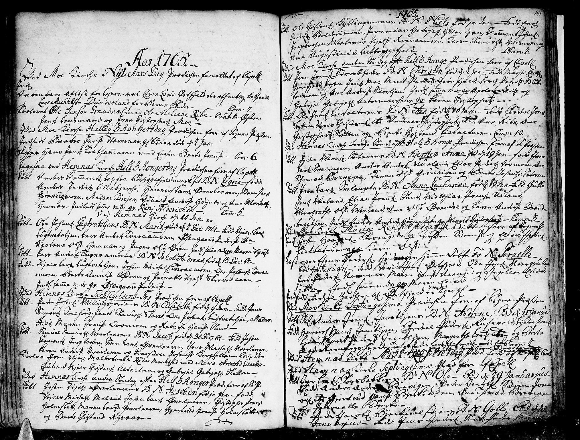 SAT, Ministerialprotokoller, klokkerbøker og fødselsregistre - Nordland, 825/L0348: Ministerialbok nr. 825A04, 1752-1788, s. 141