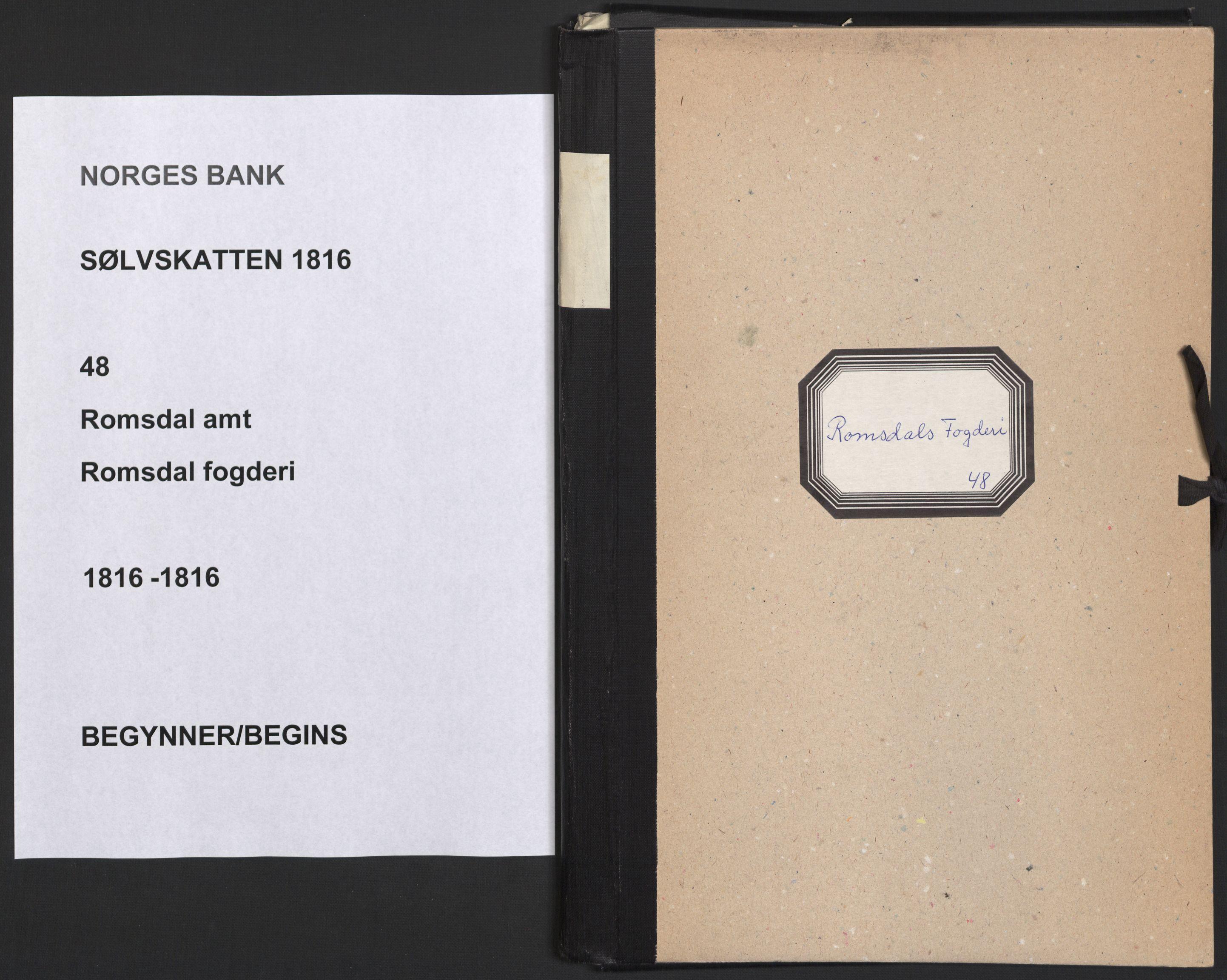 NOBA, Norges Bank/Sølvskatten 1816*, 1816, s. 1