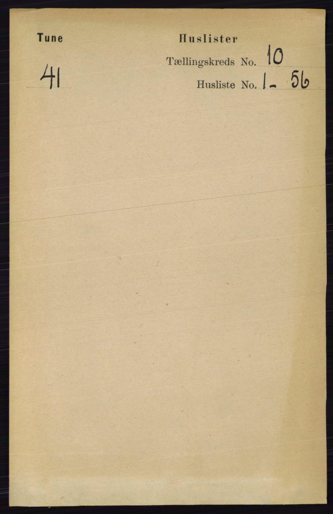 RA, Folketelling 1891 for 0130 Tune herred, 1891, s. 6504