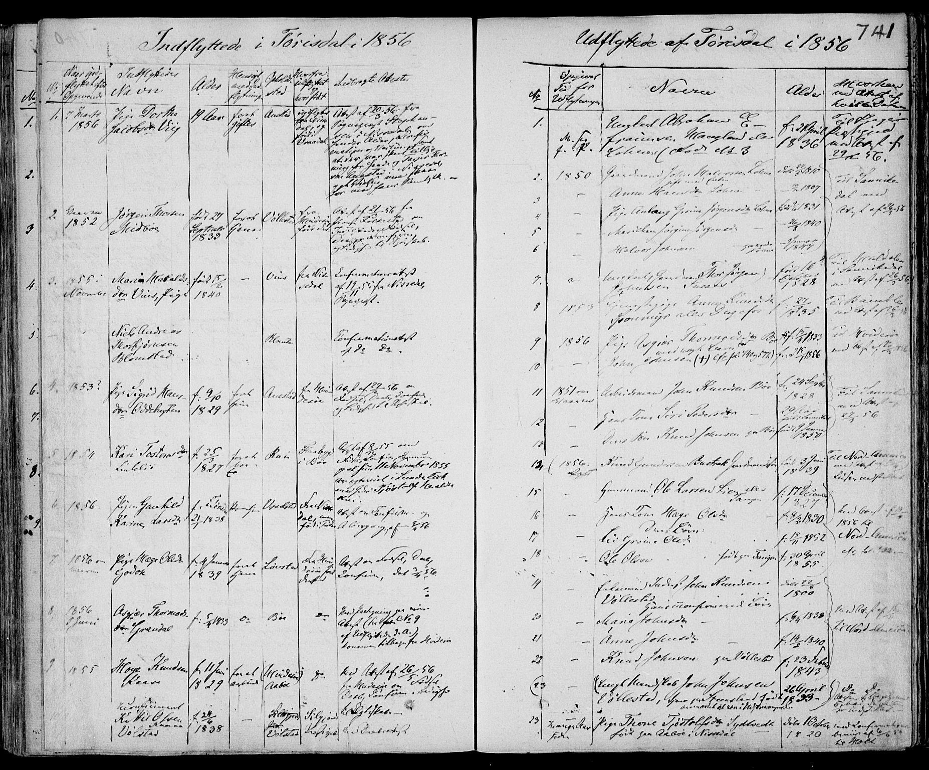 SAKO, Drangedal kirkebøker, F/Fa/L0007b: Ministerialbok nr. 7b, 1837-1856, s. 741