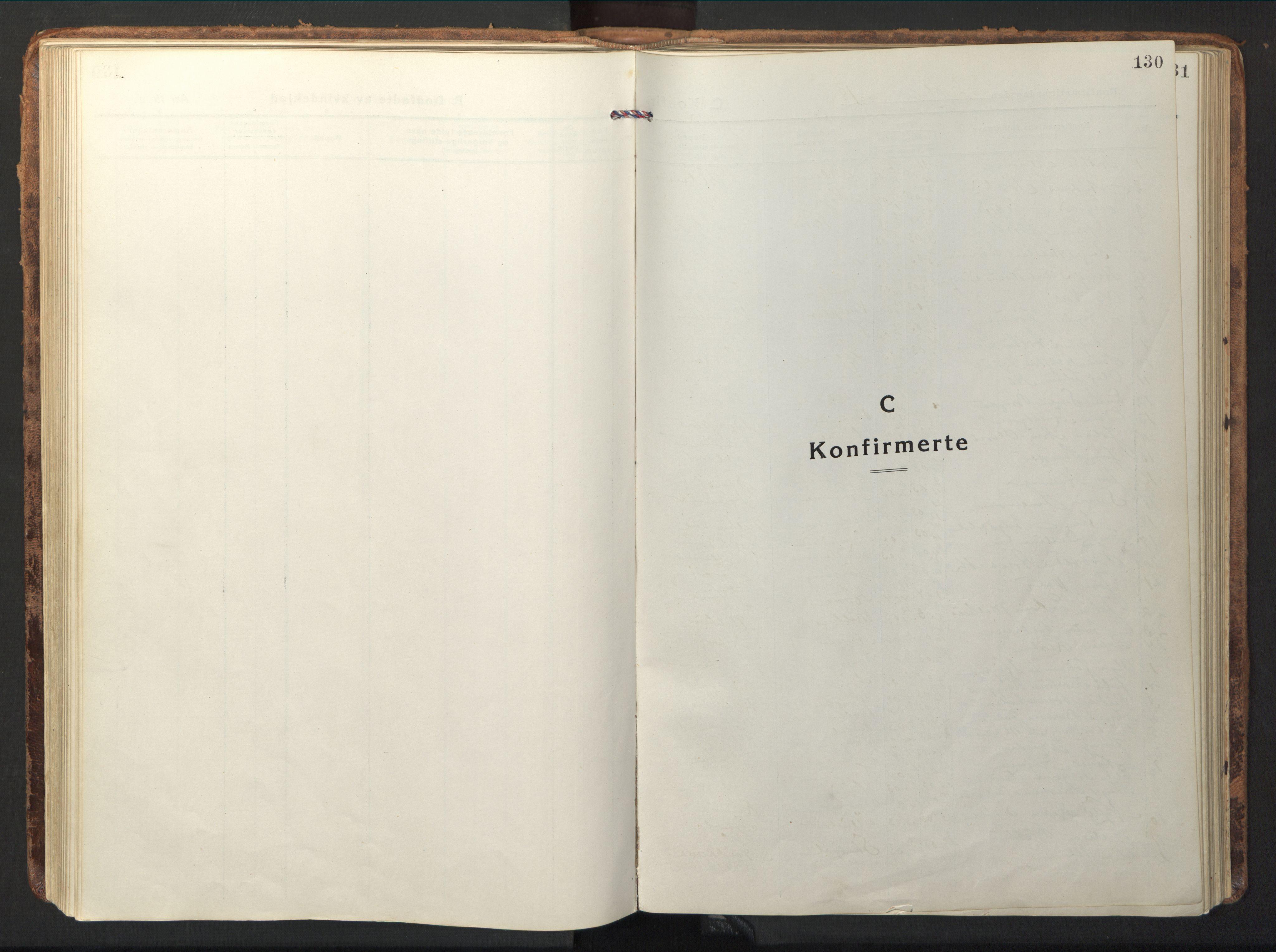 SAT, Ministerialprotokoller, klokkerbøker og fødselsregistre - Nord-Trøndelag, 714/L0136: Klokkerbok nr. 714C05, 1918-1957, s. 130