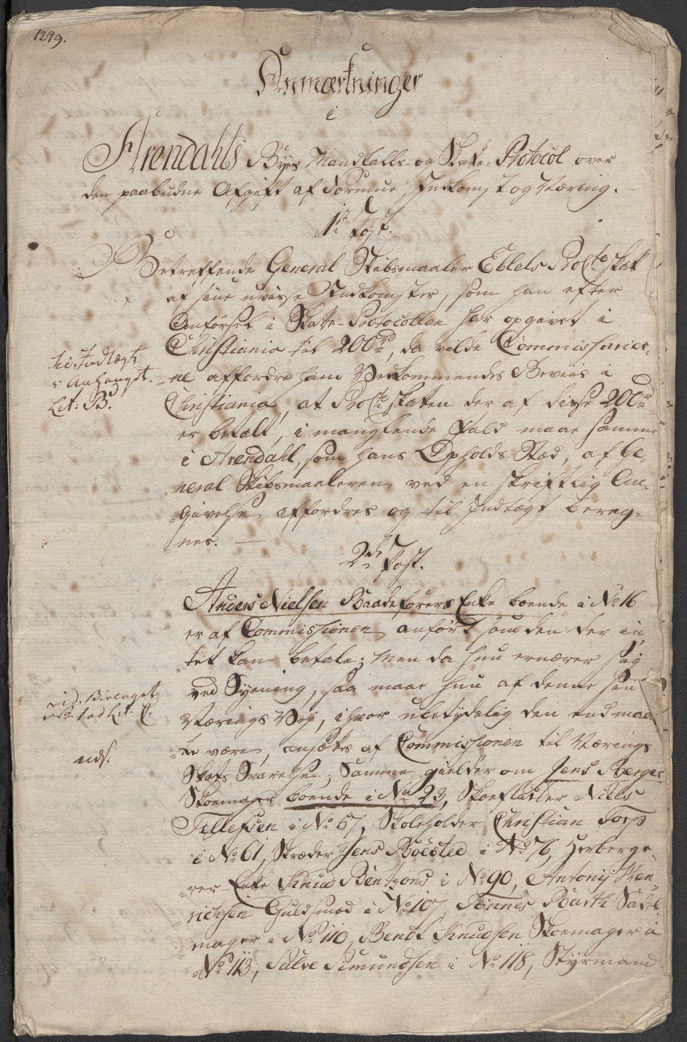 RA, Rentekammeret inntil 1814, Reviderte regnskaper, Mindre regnskaper, Rf/Rfe/L0002: Arendal. Bergen, 1789, s. 311