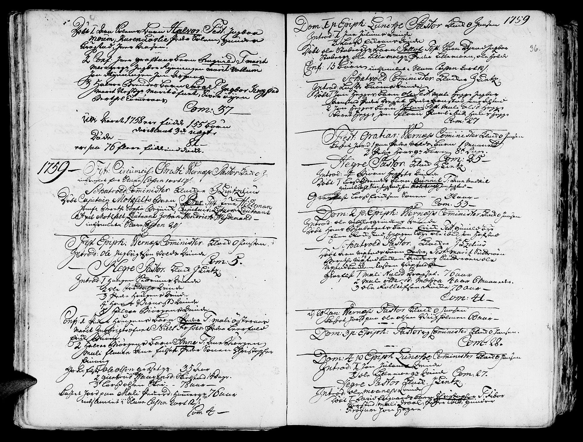 SAT, Ministerialprotokoller, klokkerbøker og fødselsregistre - Nord-Trøndelag, 709/L0057: Ministerialbok nr. 709A05, 1755-1780, s. 36