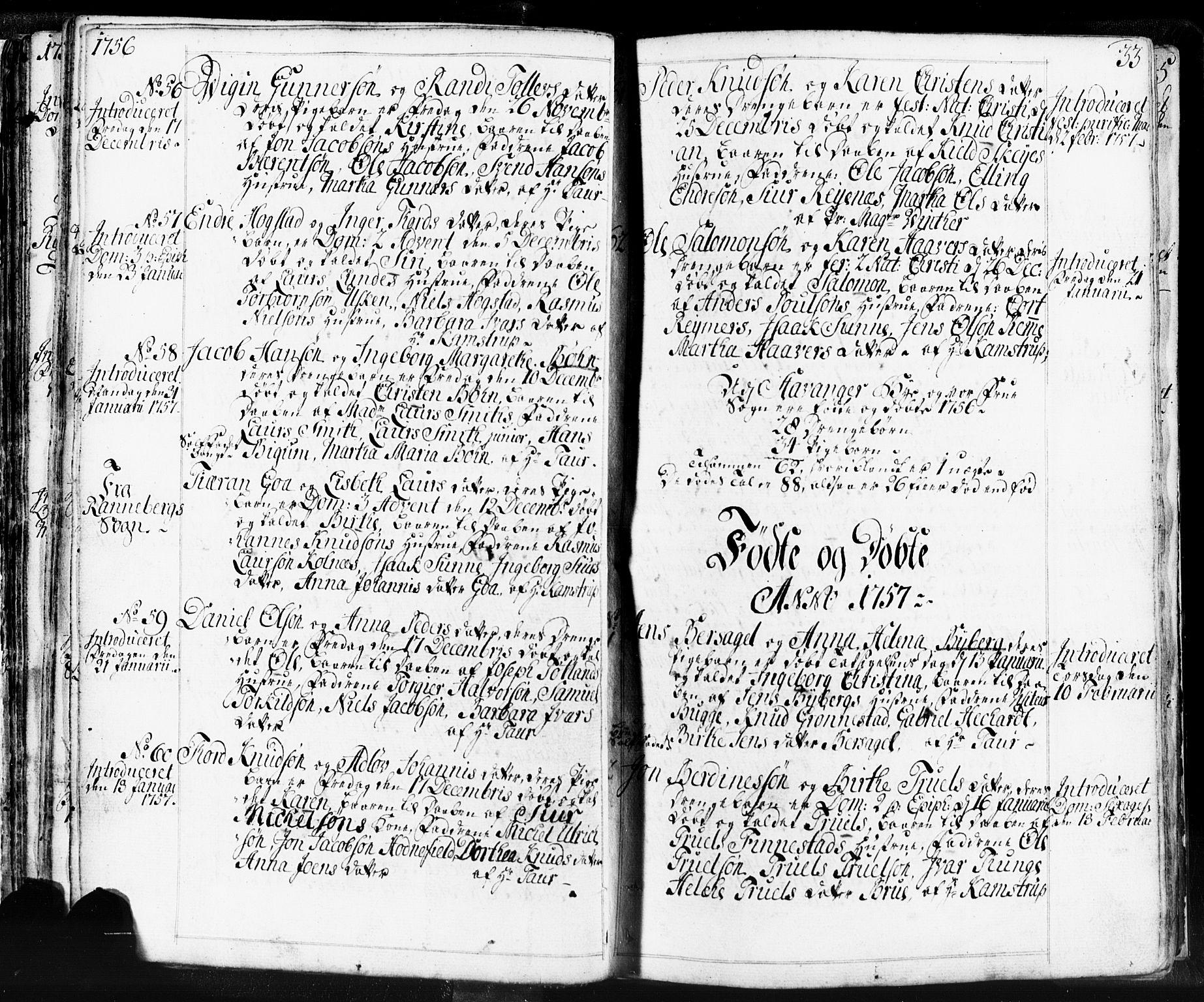 SAST, Domkirken sokneprestkontor, 30/30BB/L0004: Klokkerbok nr. B 4, 1752-1790, s. 33