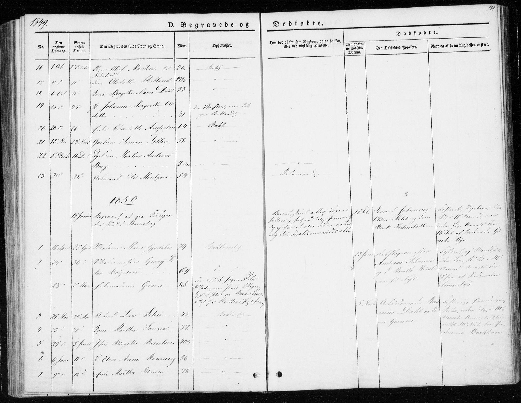 SAT, Ministerialprotokoller, klokkerbøker og fødselsregistre - Sør-Trøndelag, 604/L0183: Ministerialbok nr. 604A04, 1841-1850, s. 134