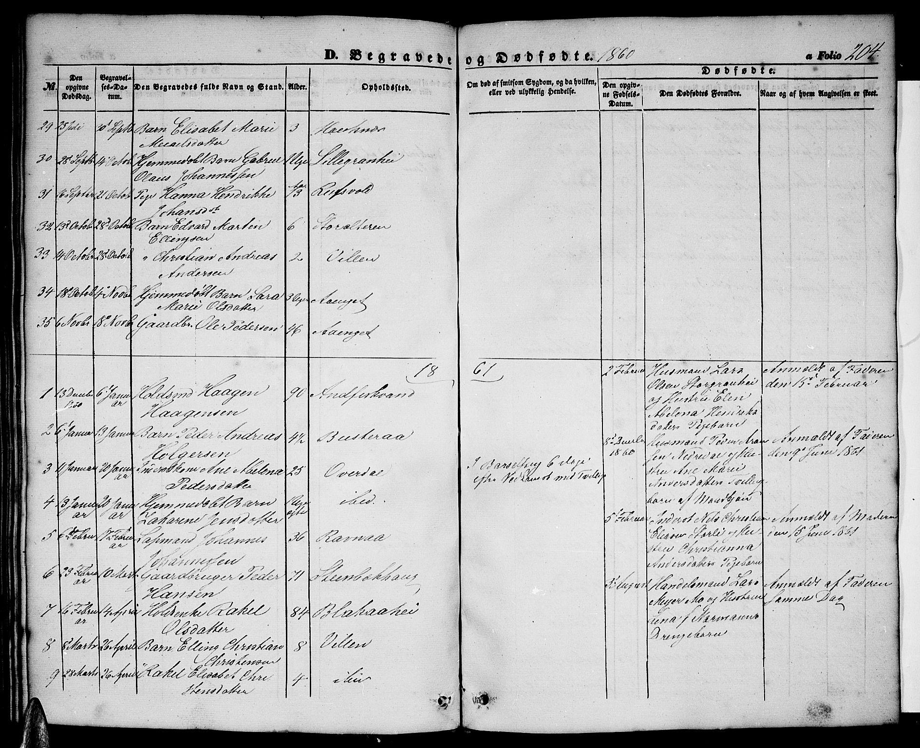 SAT, Ministerialprotokoller, klokkerbøker og fødselsregistre - Nordland, 827/L0414: Klokkerbok nr. 827C03, 1853-1865, s. 204