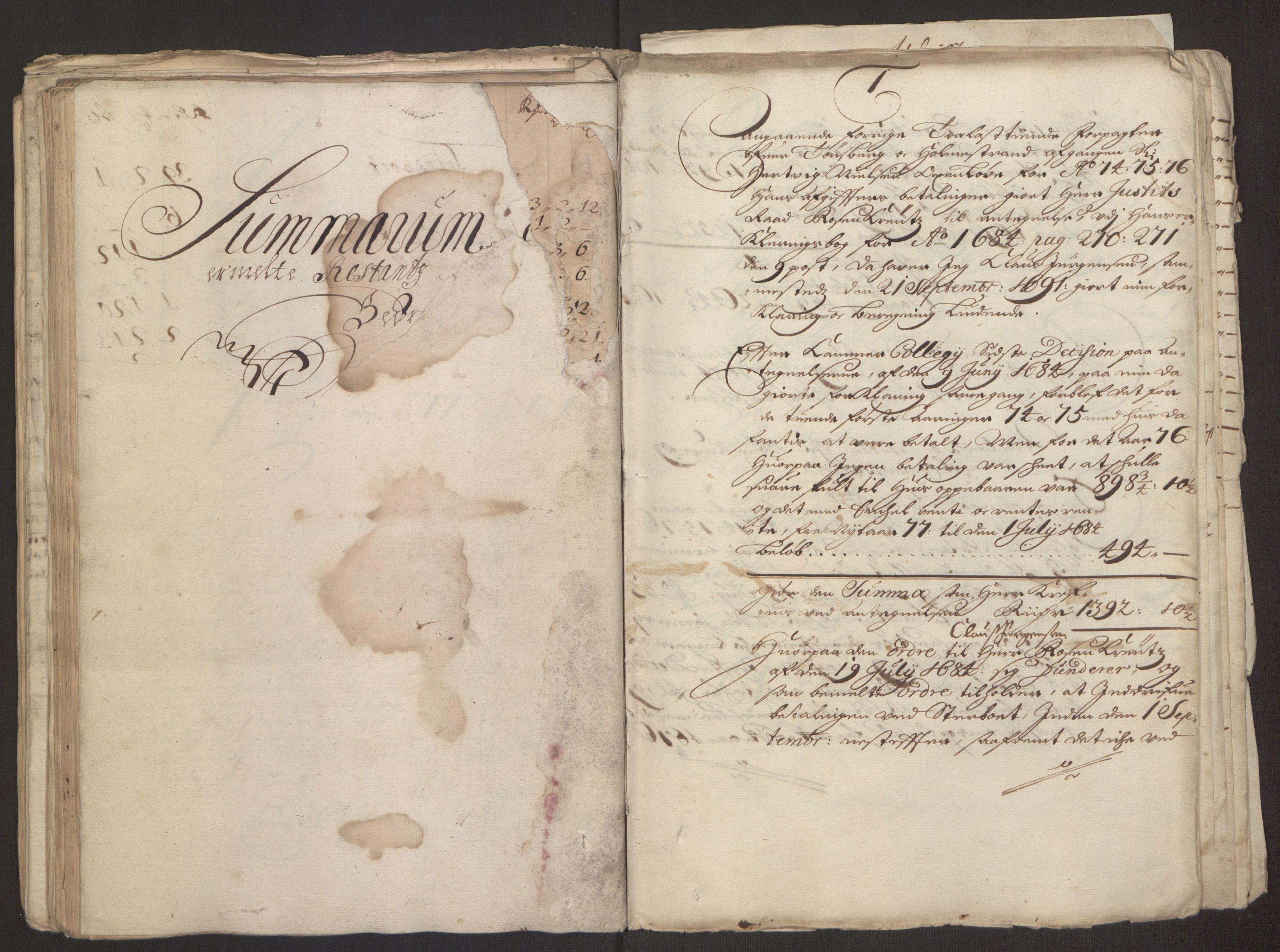 RA, Rentekammeret inntil 1814, Reviderte regnskaper, Fogderegnskap, R32/L1843: Fogderegnskap Jarlsberg grevskap, 1674-1675, s. 92