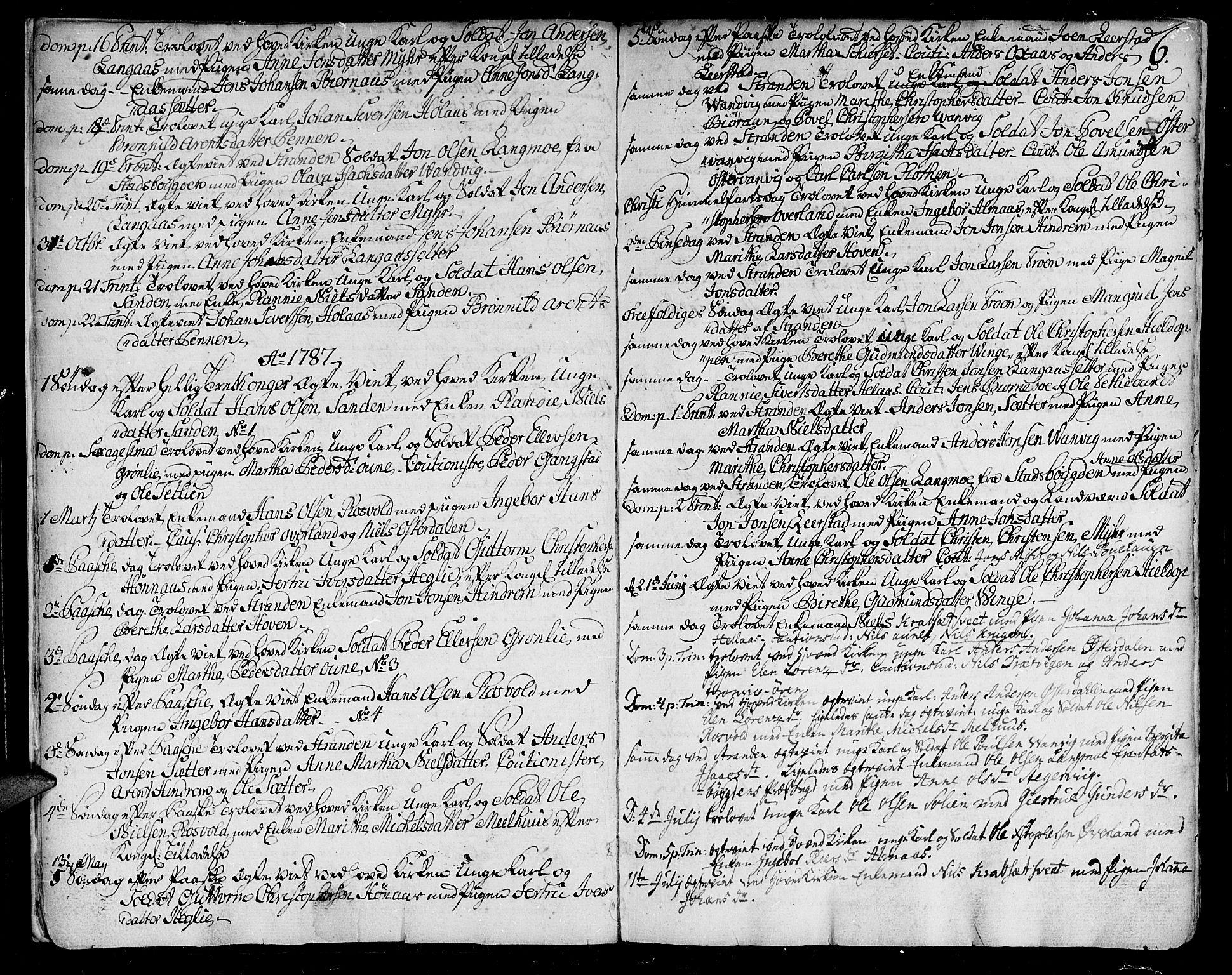 SAT, Ministerialprotokoller, klokkerbøker og fødselsregistre - Nord-Trøndelag, 701/L0004: Ministerialbok nr. 701A04, 1783-1816, s. 6