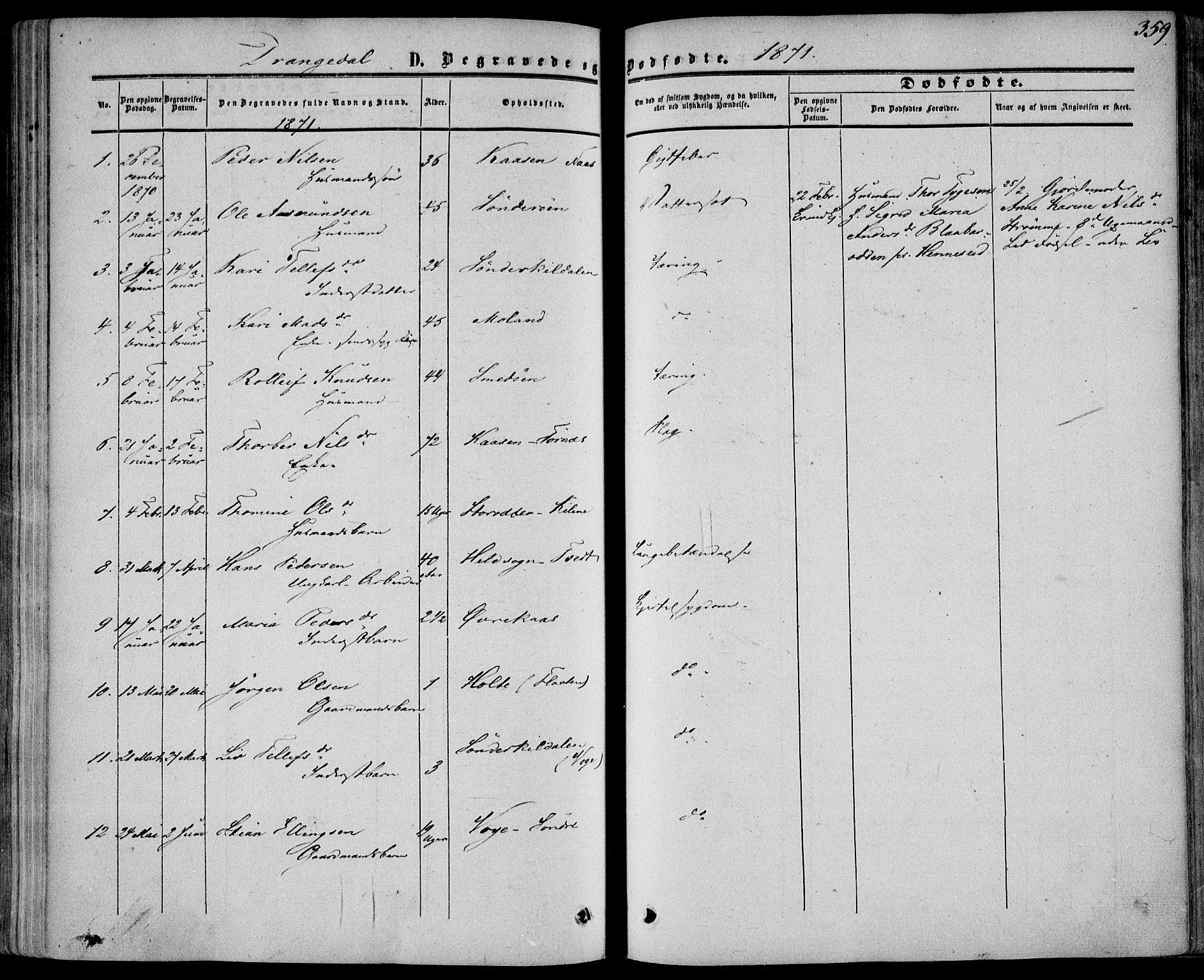 SAKO, Drangedal kirkebøker, F/Fa/L0008: Ministerialbok nr. 8, 1857-1871, s. 359