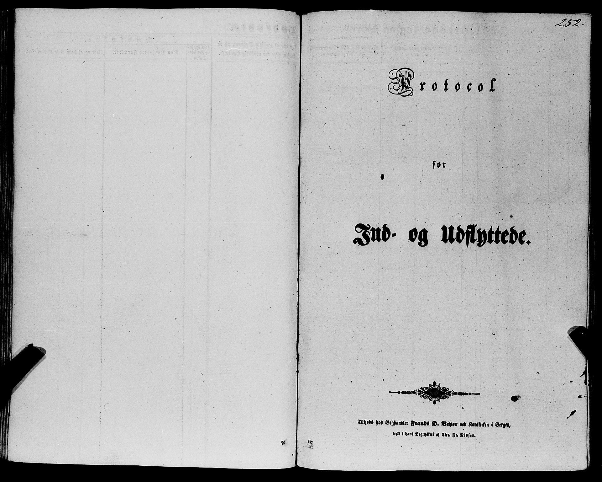 SAB, Fana Sokneprestembete, H/Haa/Haaa/L0011: Ministerialbok nr. A 11, 1851-1862, s. 252