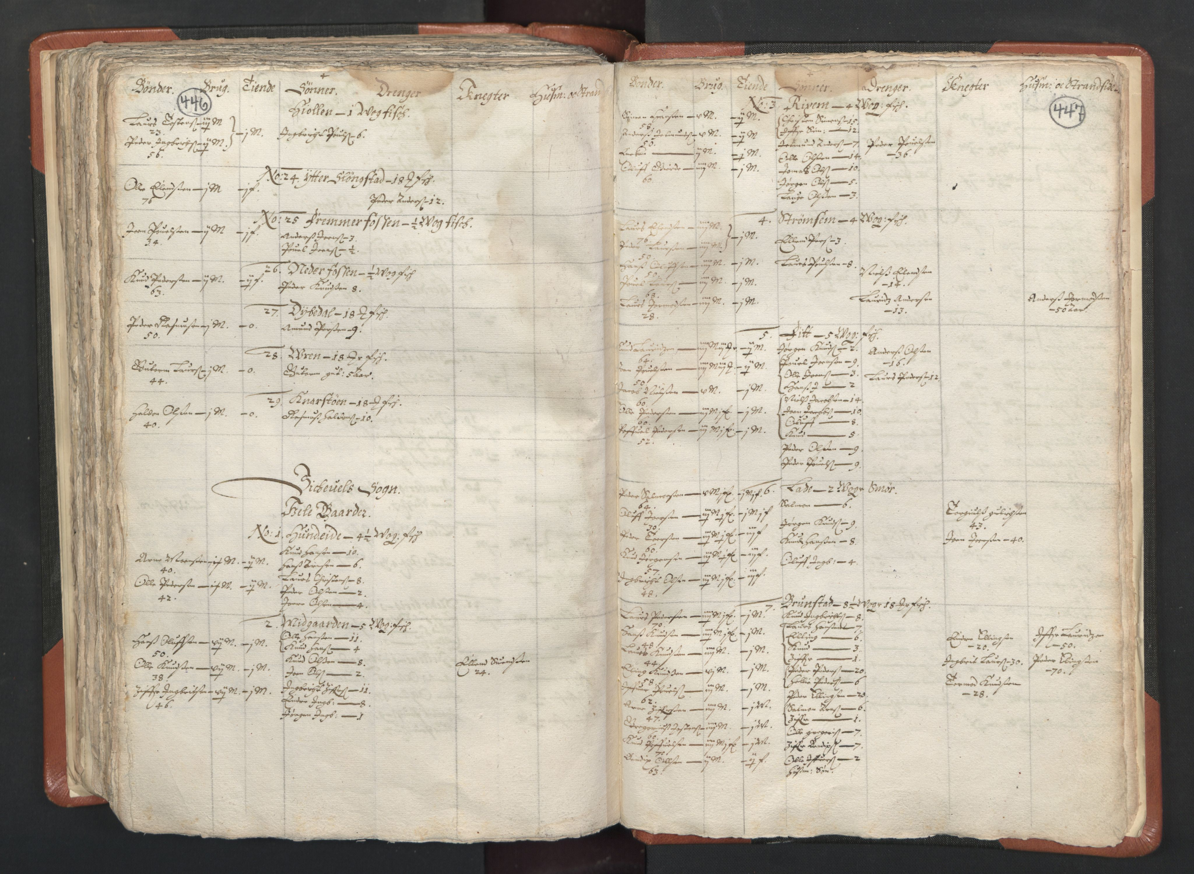 RA, Sogneprestenes manntall 1664-1666, nr. 26: Sunnmøre prosti, 1664-1666, s. 446-447