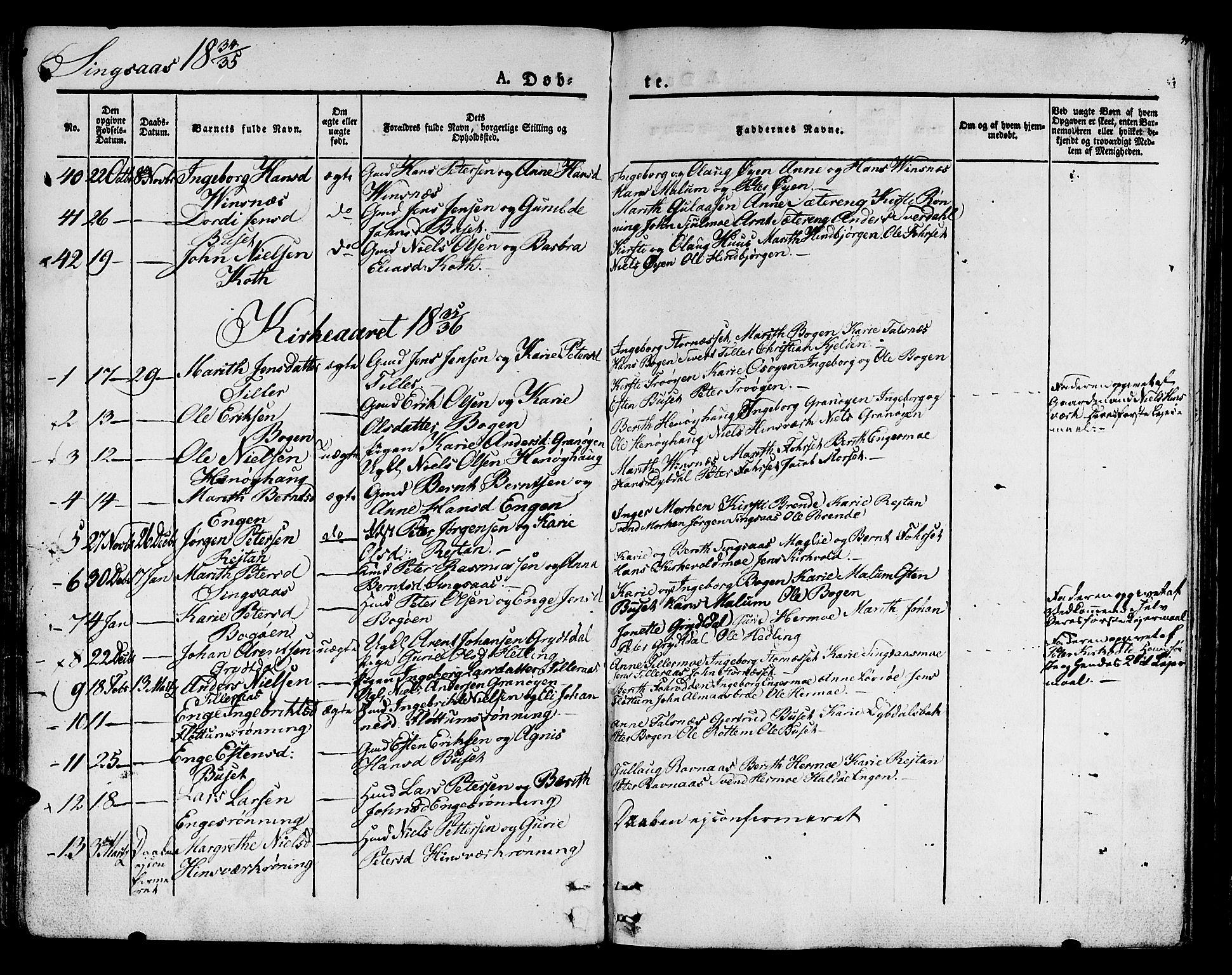 SAT, Ministerialprotokoller, klokkerbøker og fødselsregistre - Sør-Trøndelag, 685/L0958: Ministerialbok nr. 685A04 /2, 1829-1845, s. 44