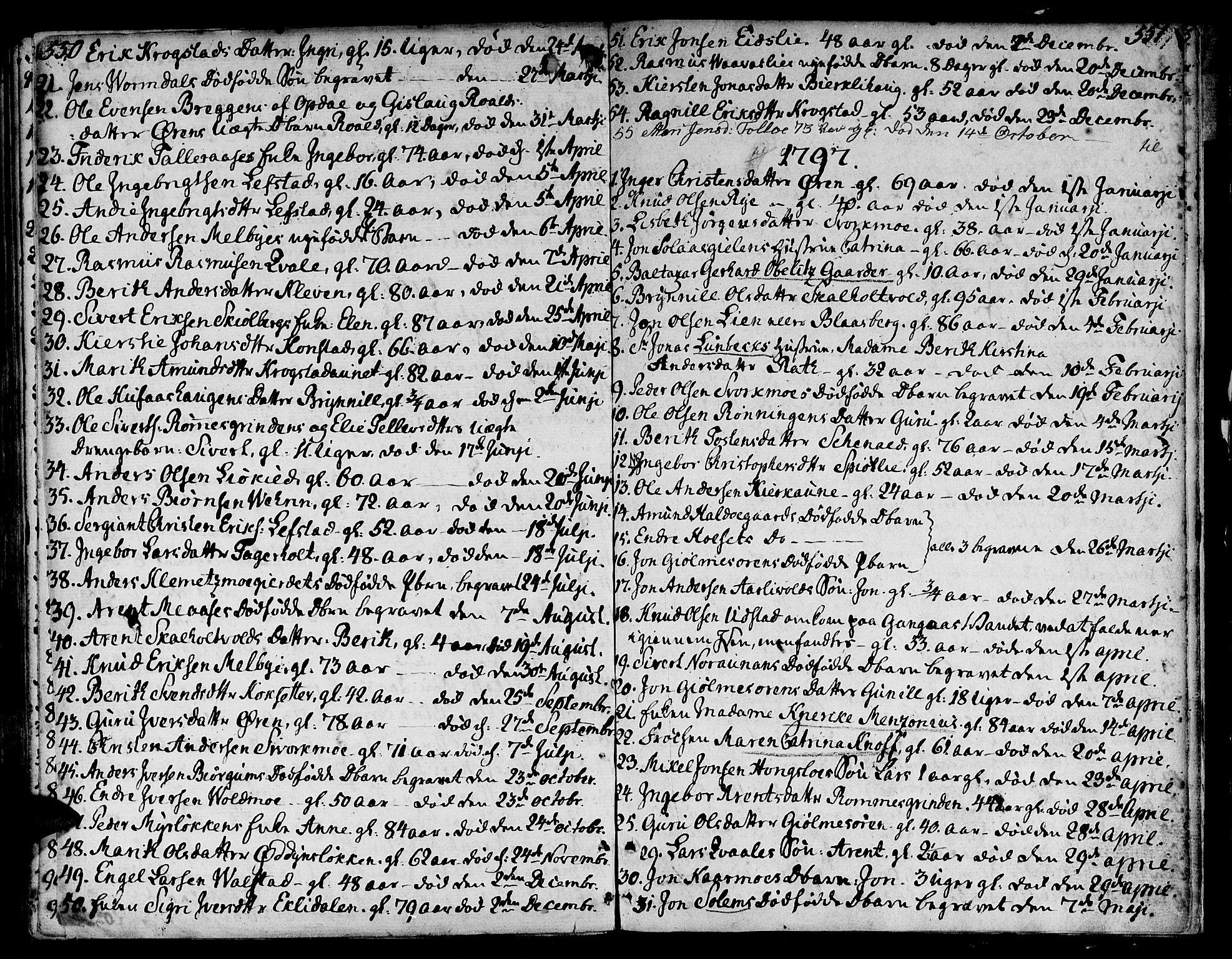 SAT, Ministerialprotokoller, klokkerbøker og fødselsregistre - Sør-Trøndelag, 668/L0802: Ministerialbok nr. 668A02, 1776-1799, s. 550-551