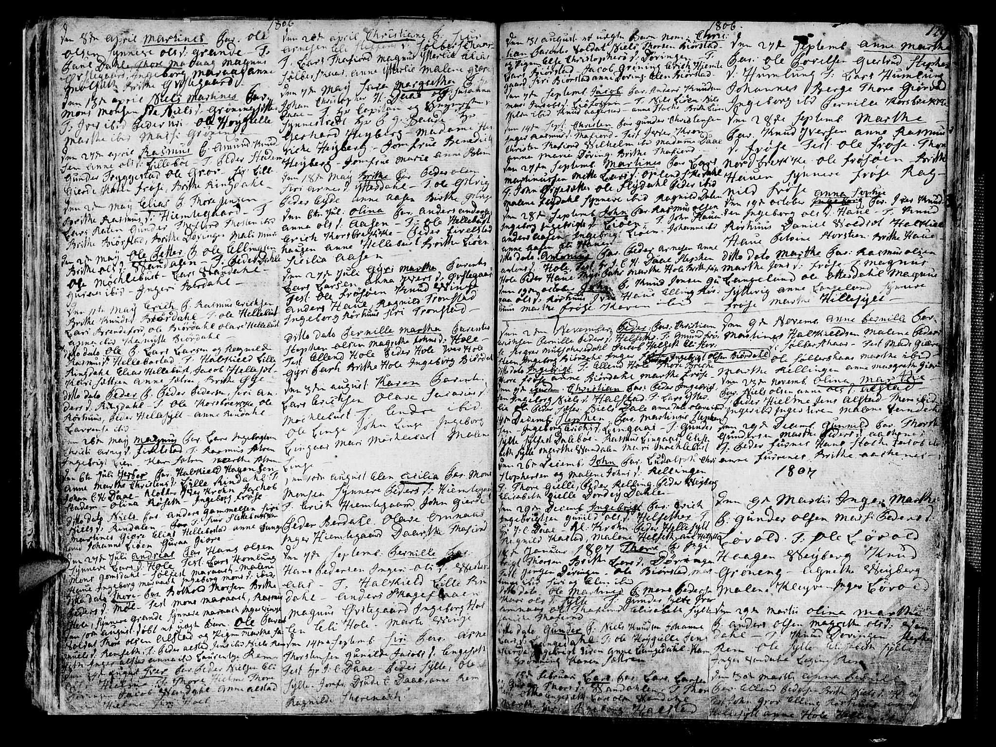 SAT, Ministerialprotokoller, klokkerbøker og fødselsregistre - Møre og Romsdal, 519/L0245: Ministerialbok nr. 519A04, 1774-1816, s. 129