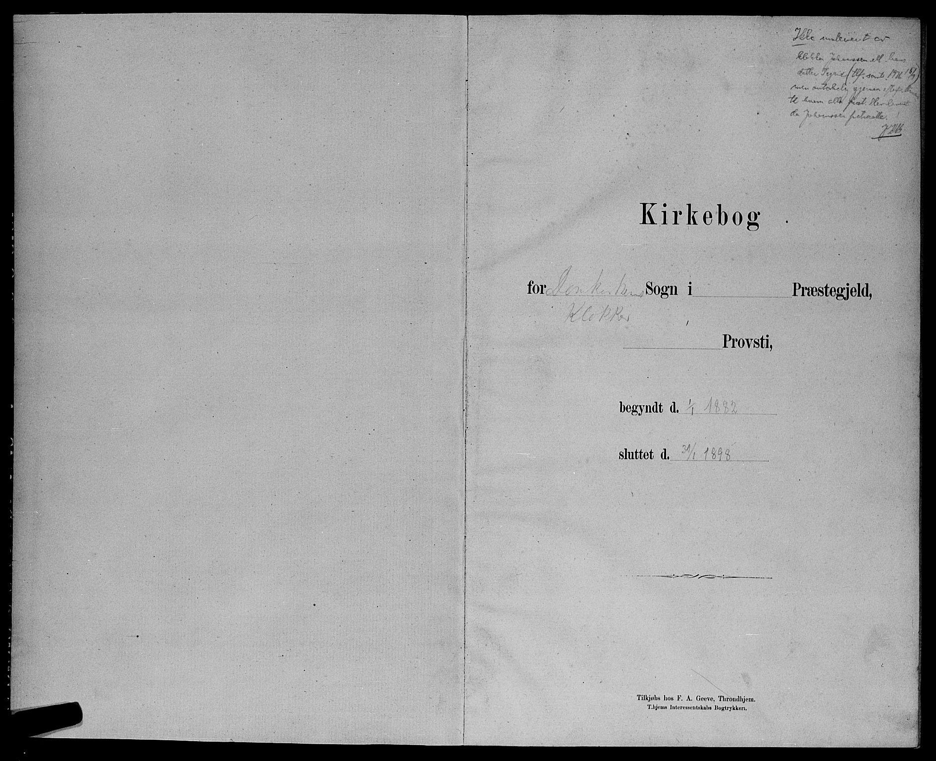 SAT, Ministerialprotokoller, klokkerbøker og fødselsregistre - Sør-Trøndelag, 601/L0093: Klokkerbok nr. 601C11, 1882-1898