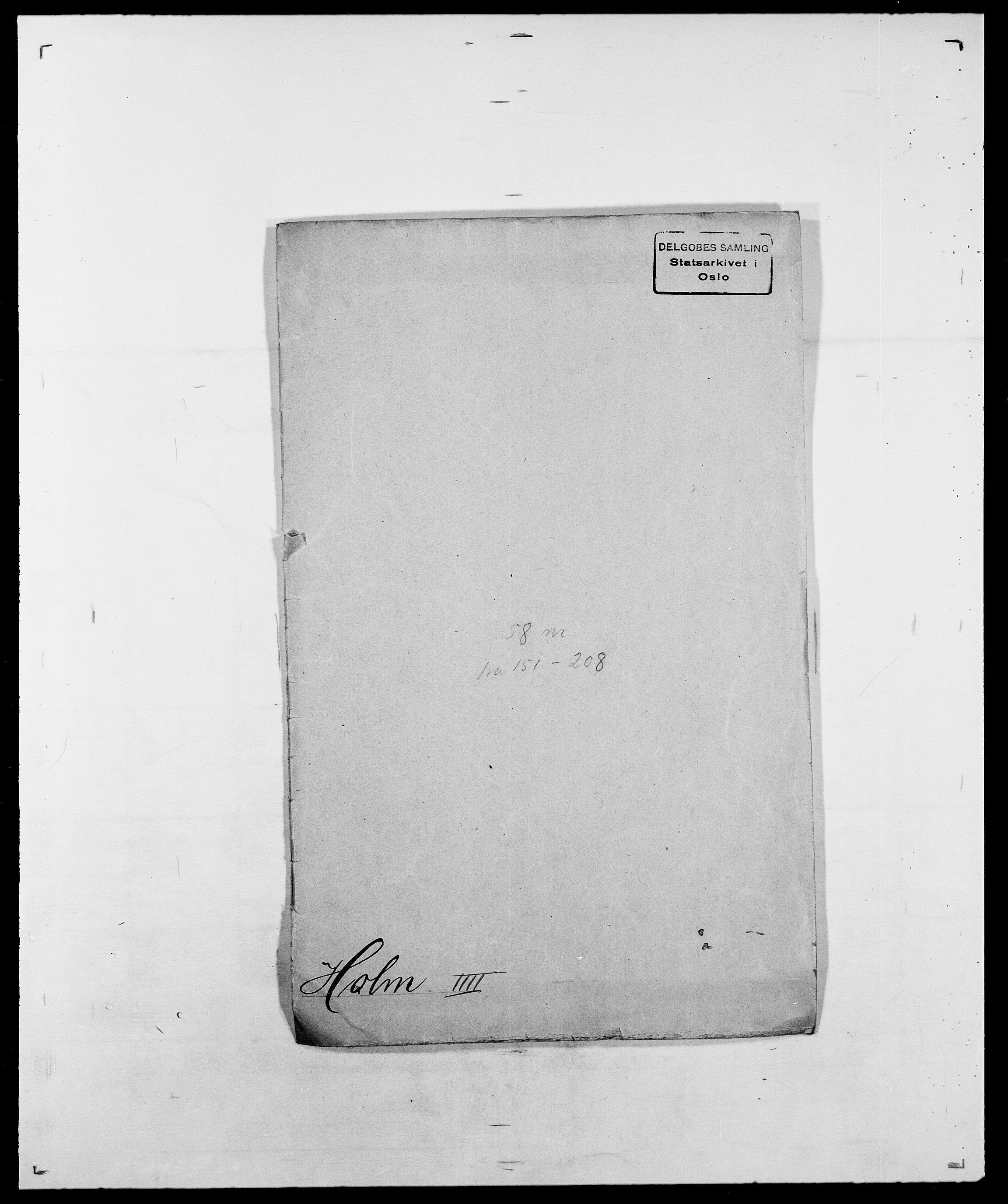 SAO, Delgobe, Charles Antoine - samling, D/Da/L0018: Hoch - Howert, s. 430