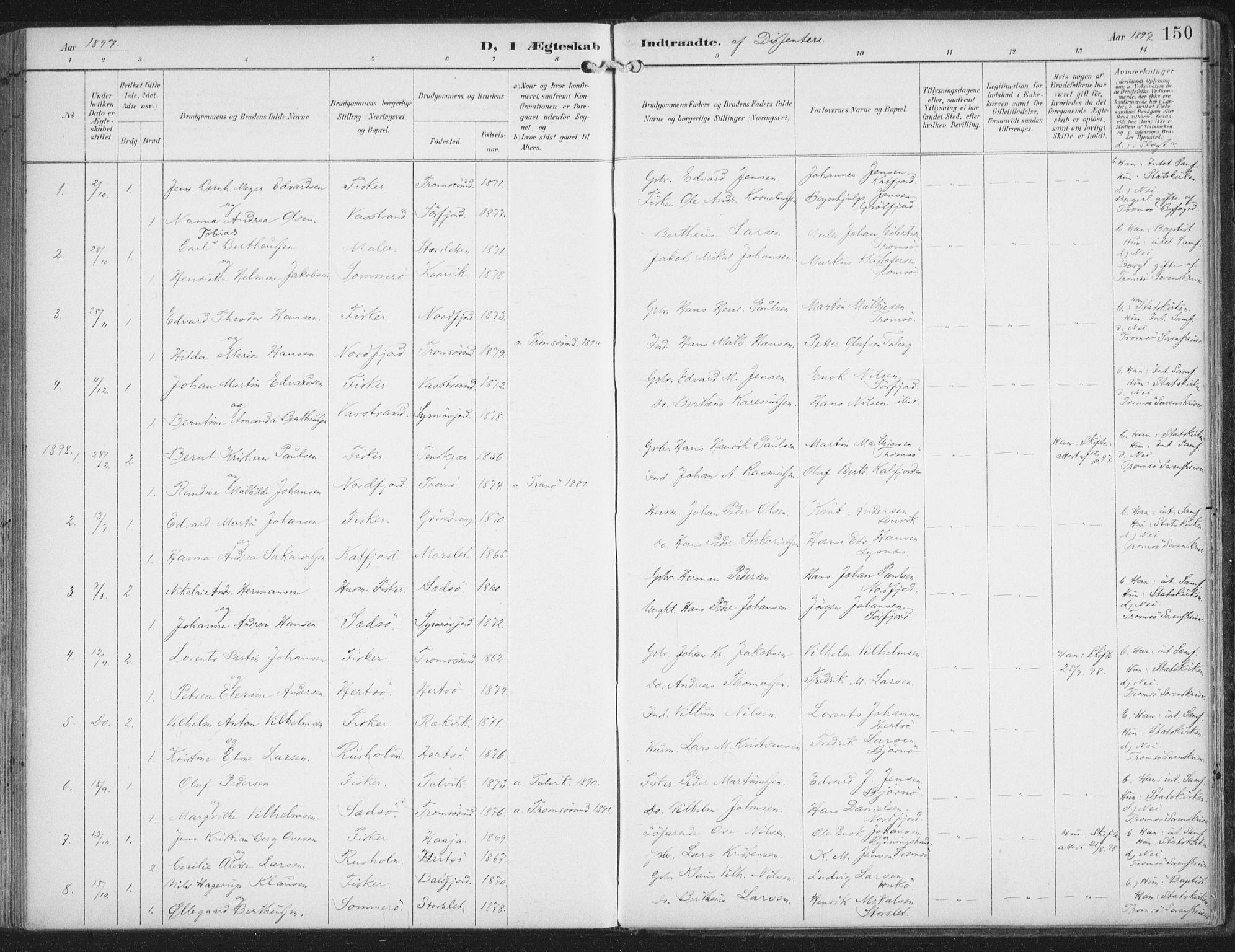 SATØ, Lenvik sokneprestembete, H/Ha: Ministerialbok nr. 15, 1896-1915, s. 150