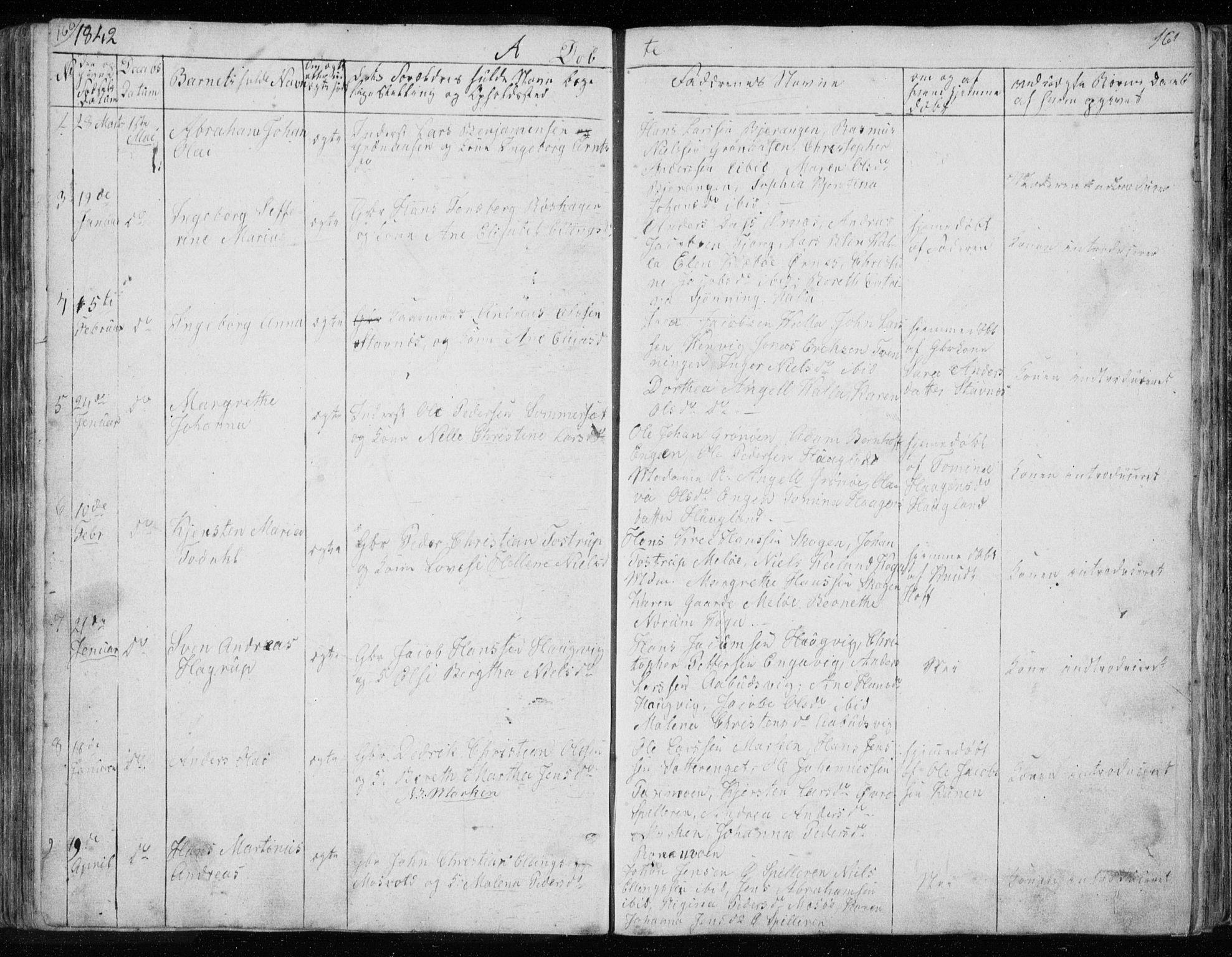SAT, Ministerialprotokoller, klokkerbøker og fødselsregistre - Nordland, 843/L0632: Klokkerbok nr. 843C01, 1833-1853, s. 160-161