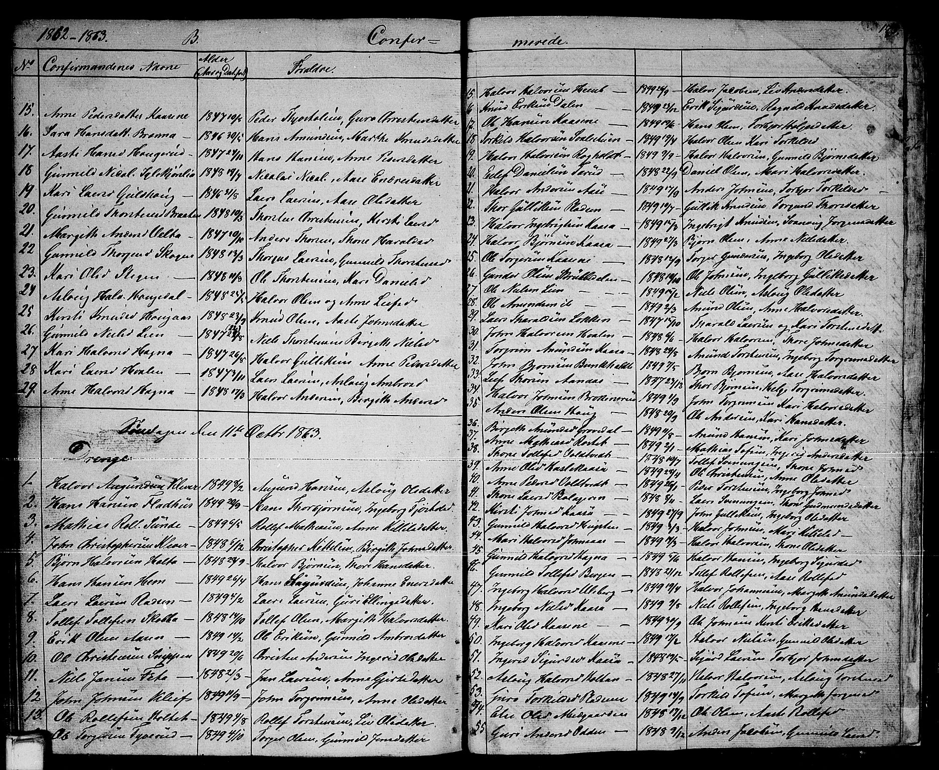 SAKO, Sauherad kirkebøker, G/Ga/L0002: Klokkerbok nr. I 2, 1842-1866, s. 173