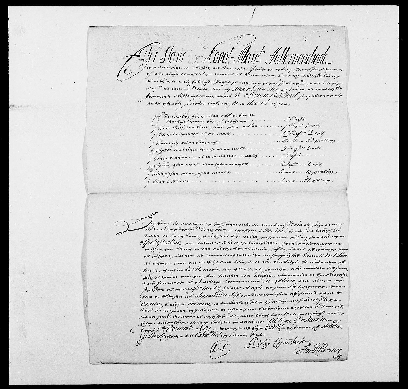 RA, Rentekammeret inntil 1814, Reviderte regnskaper, Fogderegnskap, R01/L0010: Fogderegnskap Idd og Marker, 1690-1691, s. 314