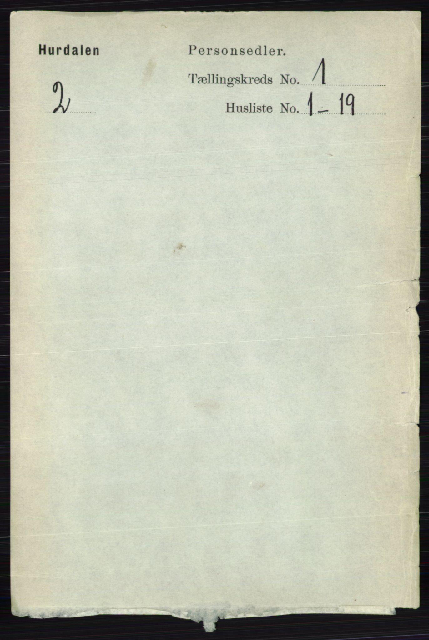 RA, Folketelling 1891 for 0239 Hurdal herred, 1891, s. 77