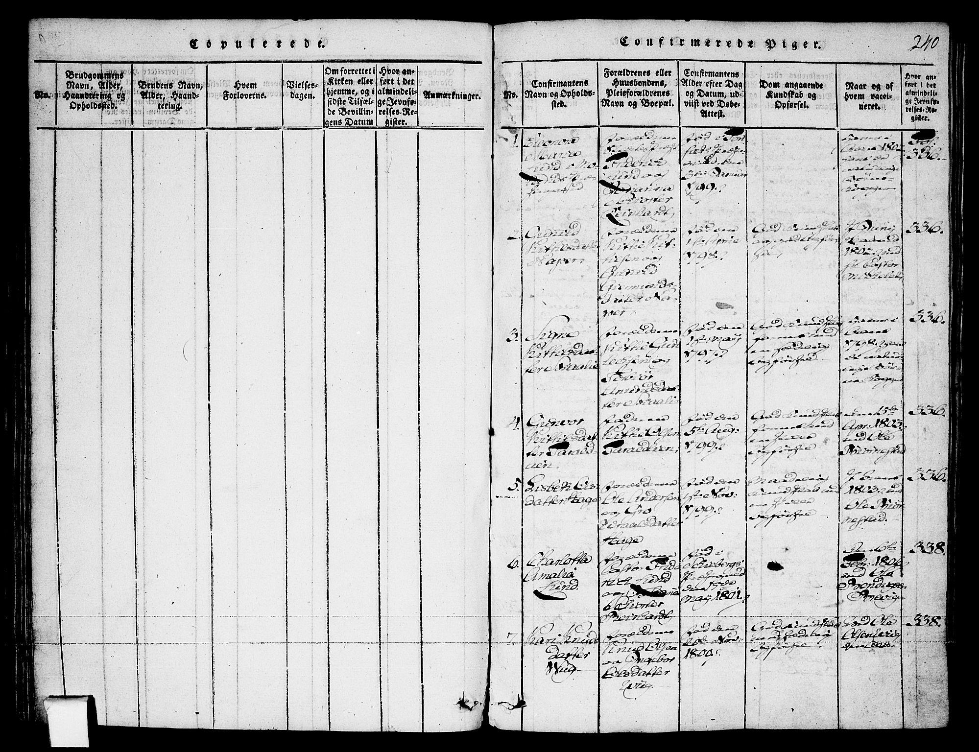 SAKO, Fyresdal kirkebøker, F/Fa/L0003: Ministerialbok nr. I 3, 1815-1840, s. 240