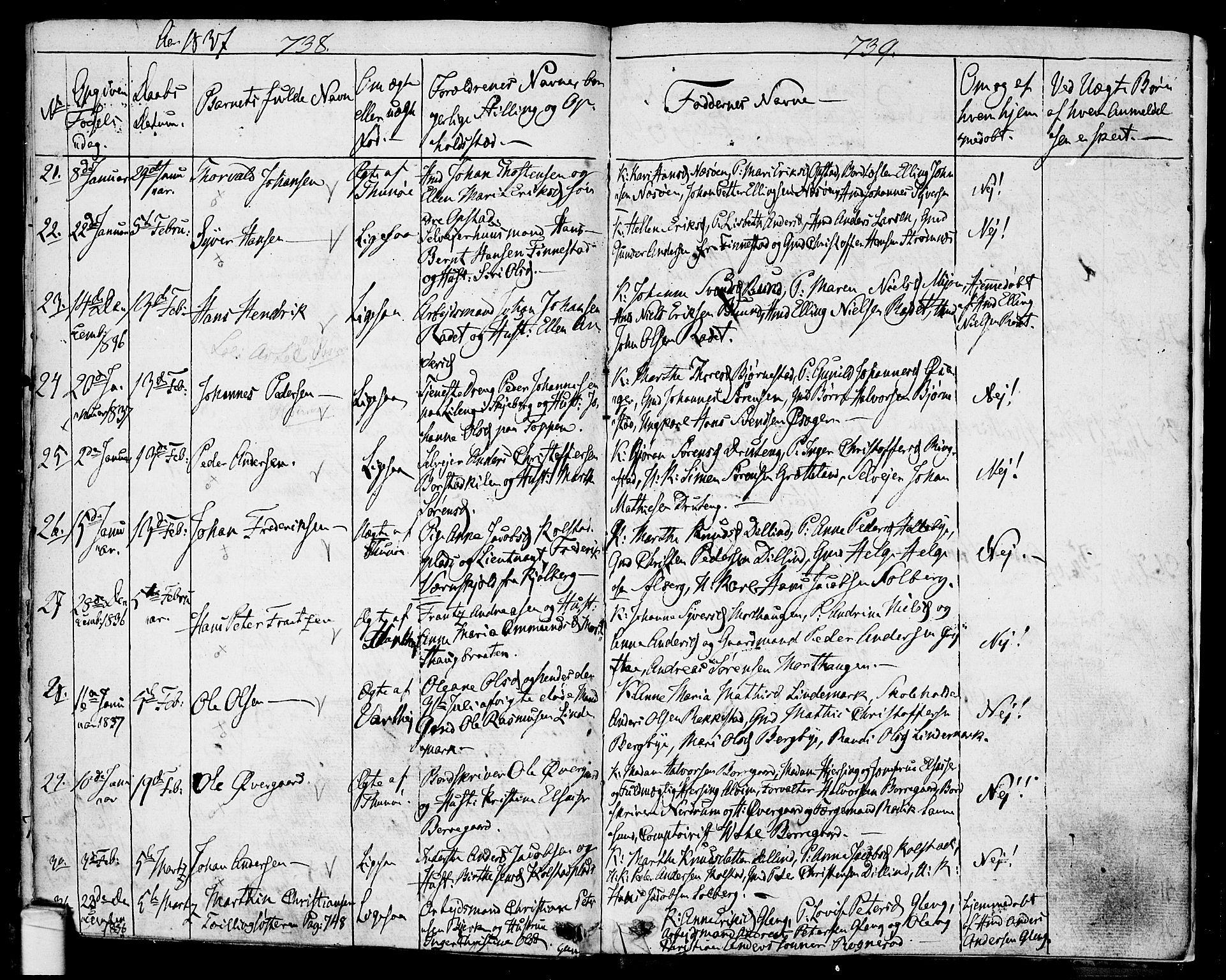 SAO, Tune prestekontor Kirkebøker, F/Fa/L0007: Ministerialbok nr. 7, 1831-1837, s. 738-739