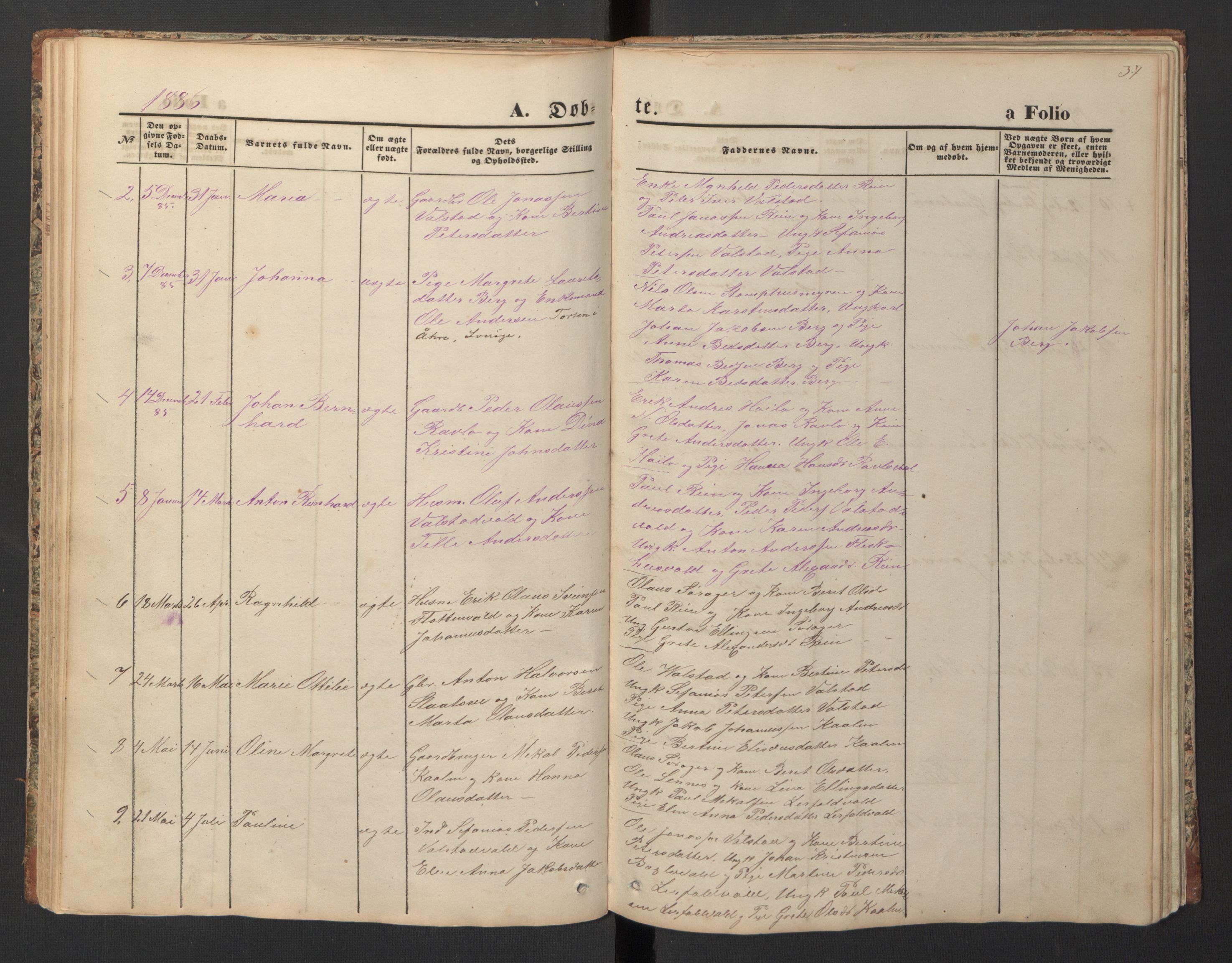 SAT, Ministerialprotokoller, klokkerbøker og fødselsregistre - Nord-Trøndelag, 726/L0271: Klokkerbok nr. 726C02, 1869-1897, s. 37