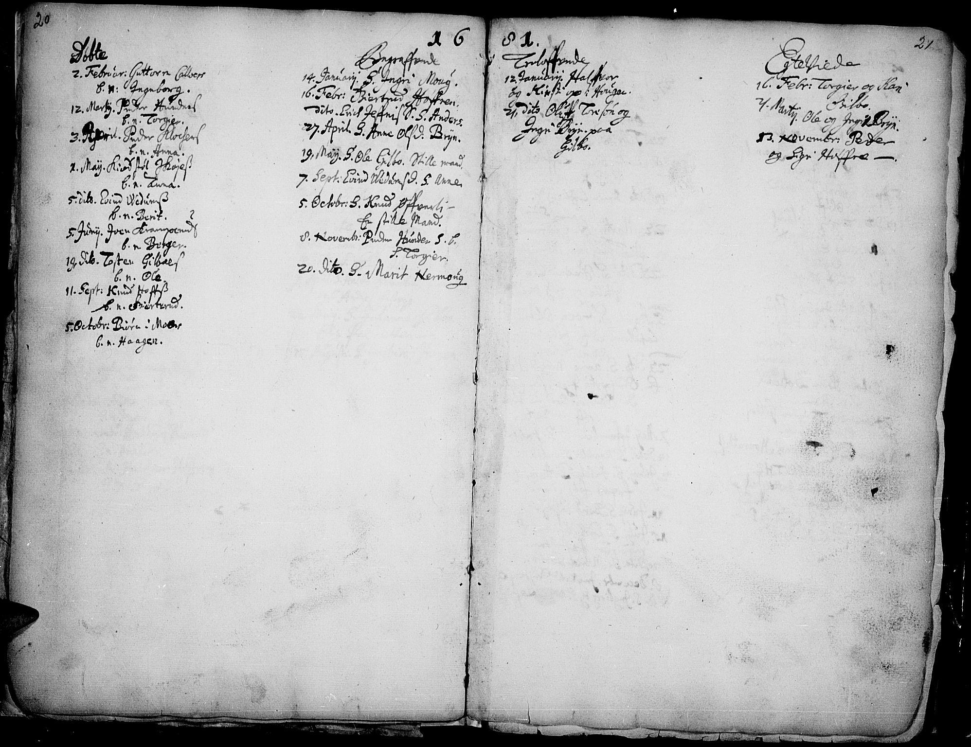 SAH, Øyer prestekontor, Ministerialbok nr. 1, 1671-1727, s. 20-21